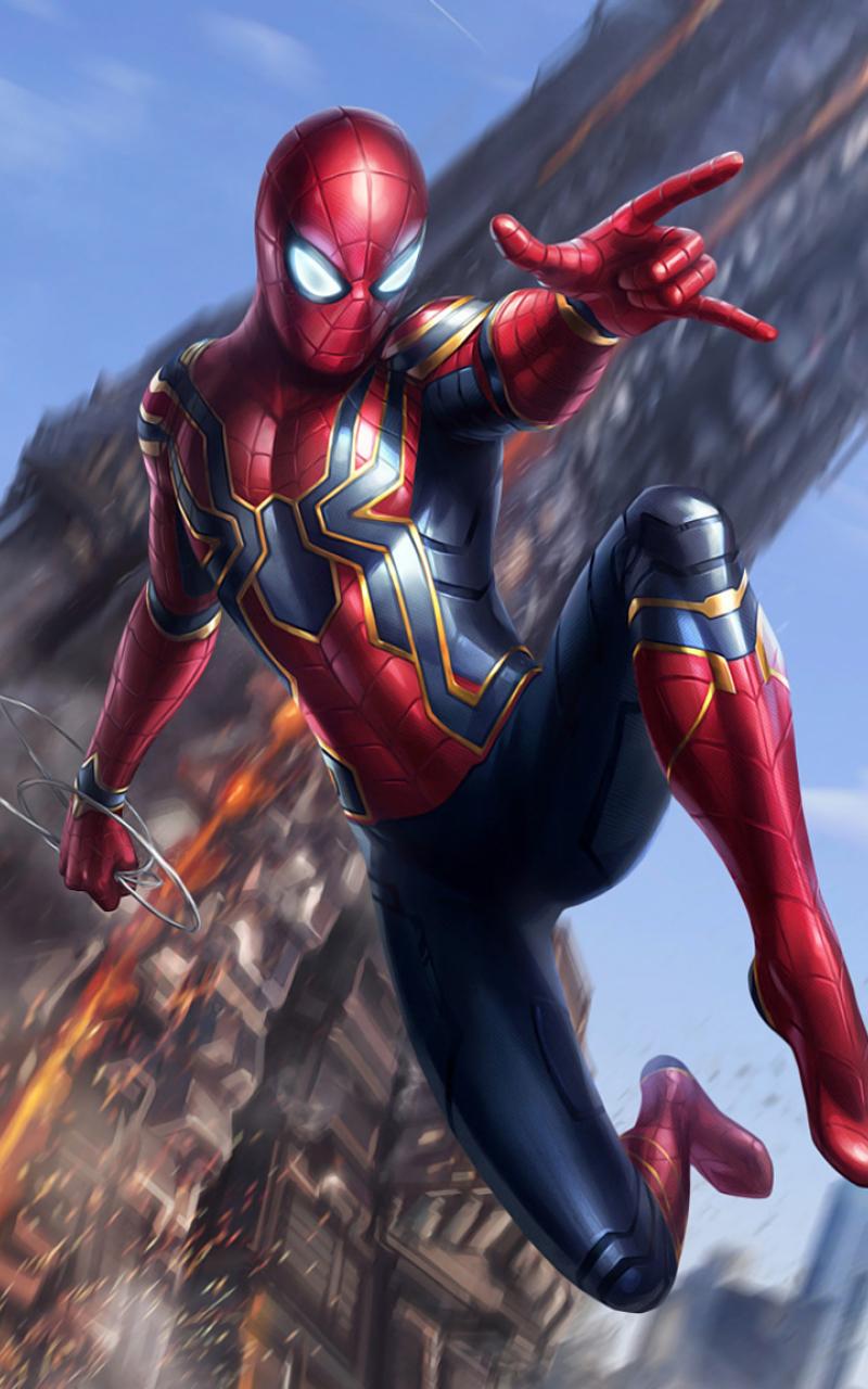 Iron spider avengers infinity war full hd 2k wallpaper - Iron man spiderman wallpaper ...