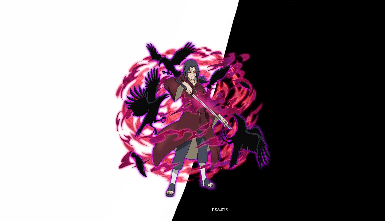 1336x768 Itachi Uchiha Naruto Art Hd Laptop Wallpaper Hd Anime 4k Wallpapers Images Photos And Background