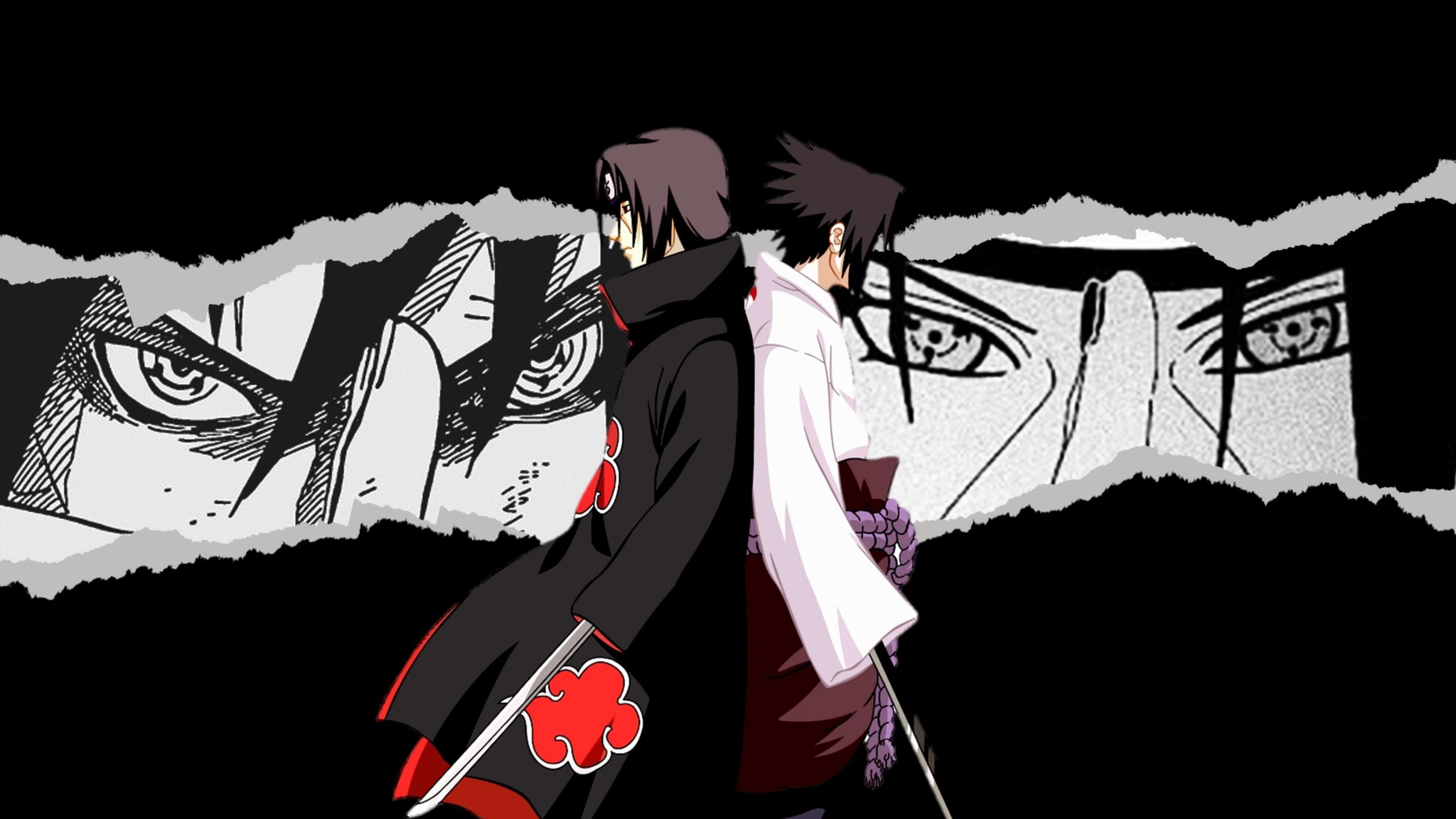 2560x1440 Itachi vs Sasuke 4K Naruto 1440P Resolution ...