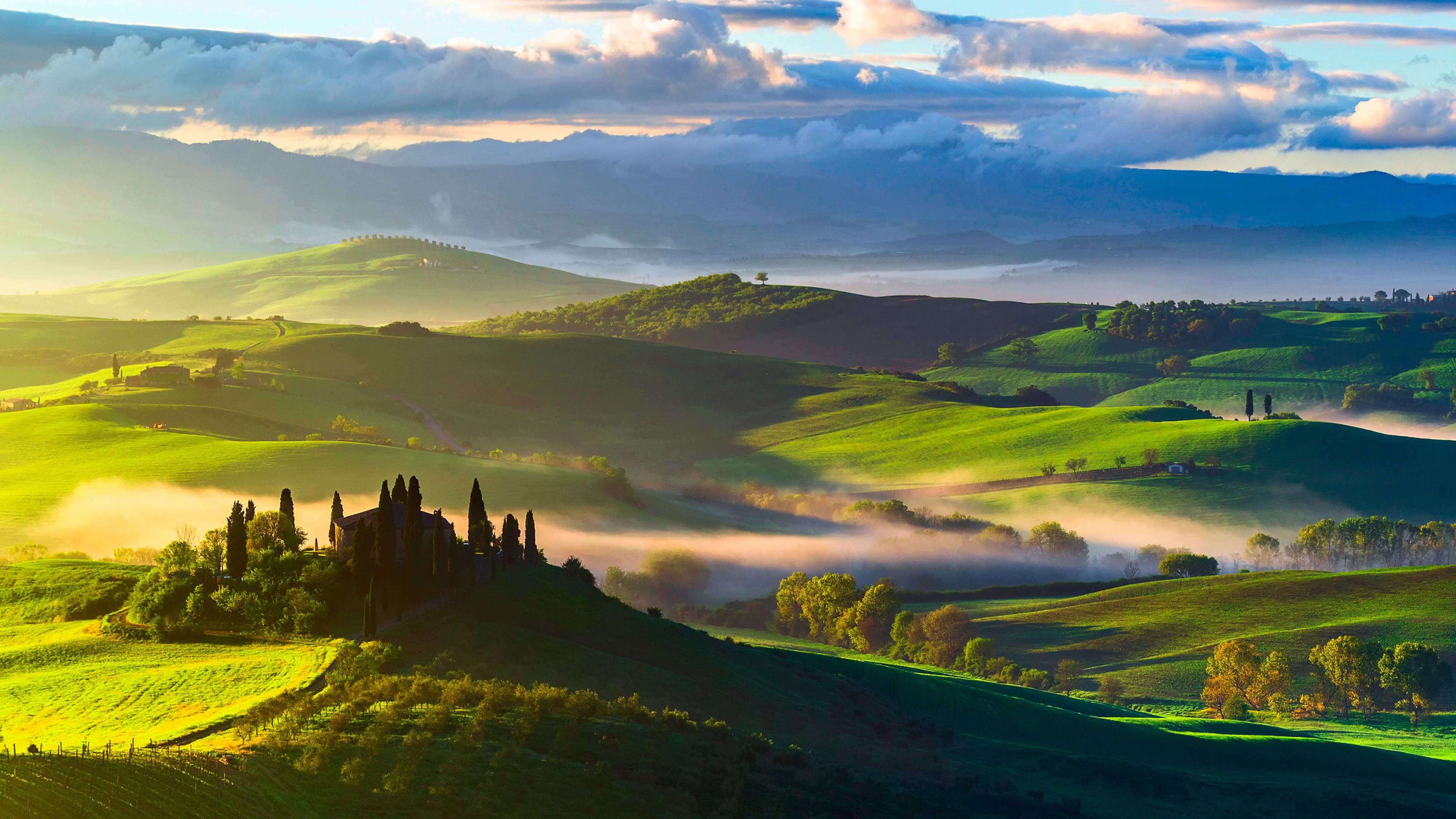 3840x2160 italy, tuscany, fields 4K Wallpaper, HD Nature ...