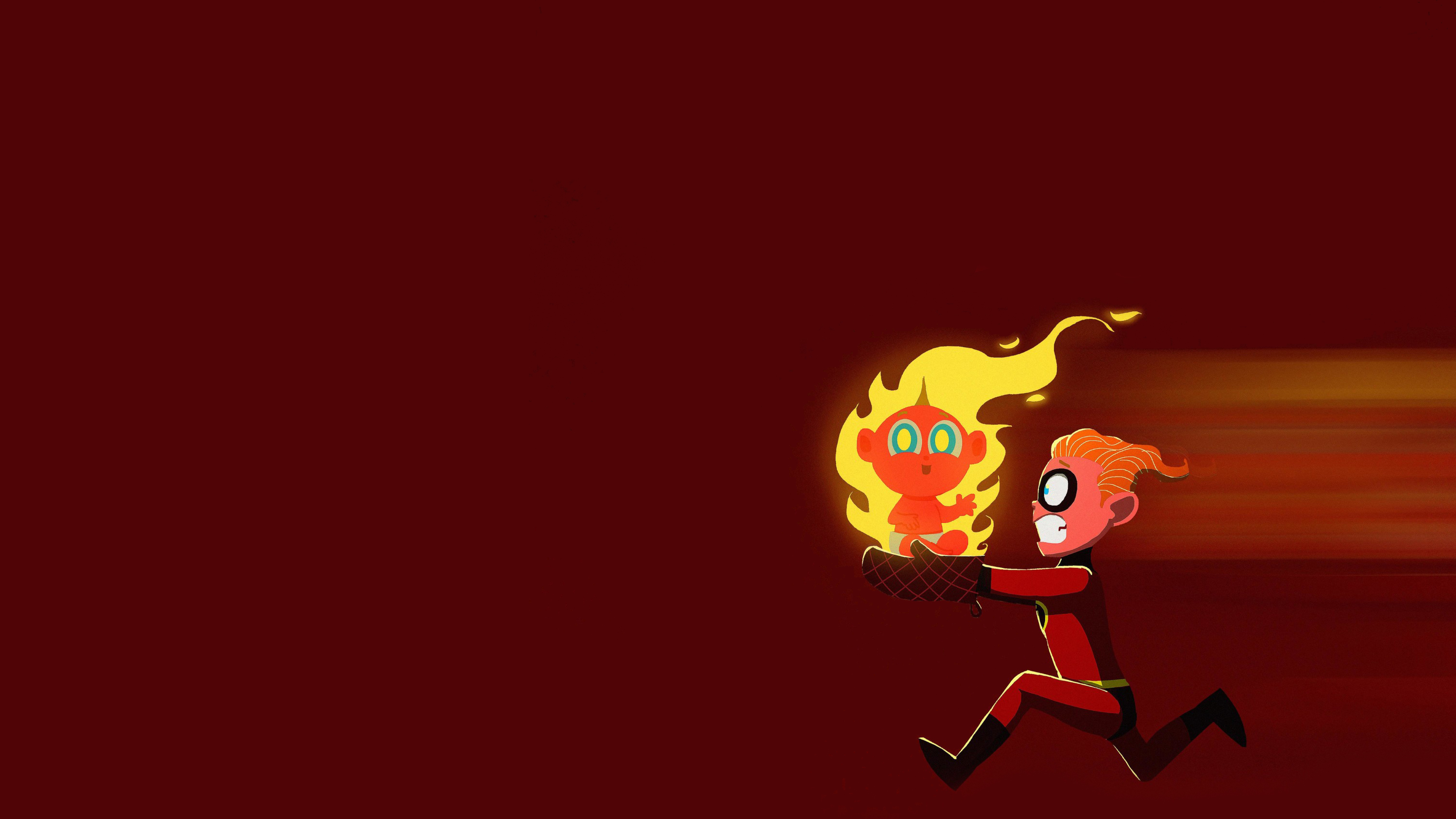 Incredible Ii Wallpaper Free: Jack Jack Parr And Dash In The Incredibles 2 Artwork, HD