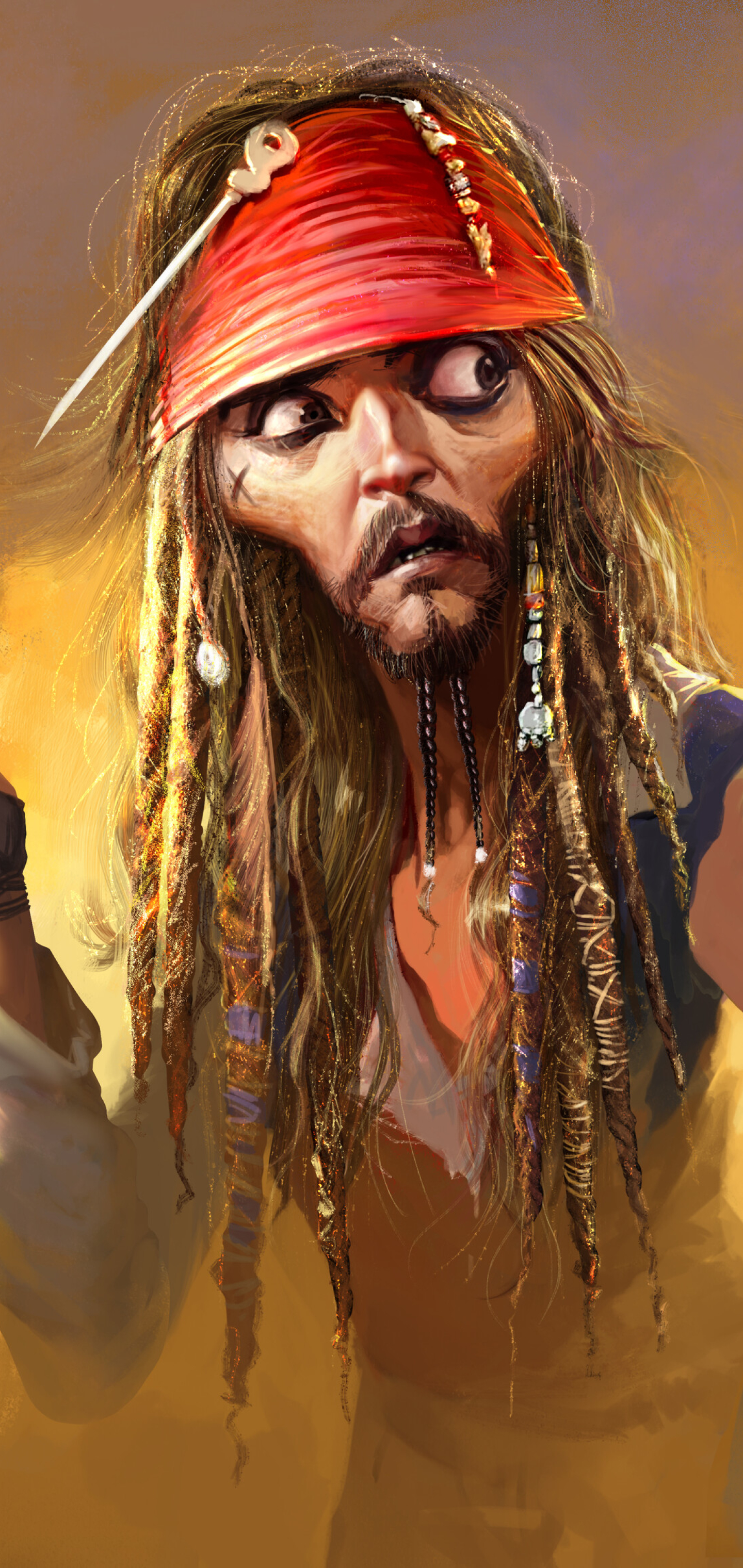 1440x3040 Jack Sparrow Pirates Of The Caribbean Funny ...