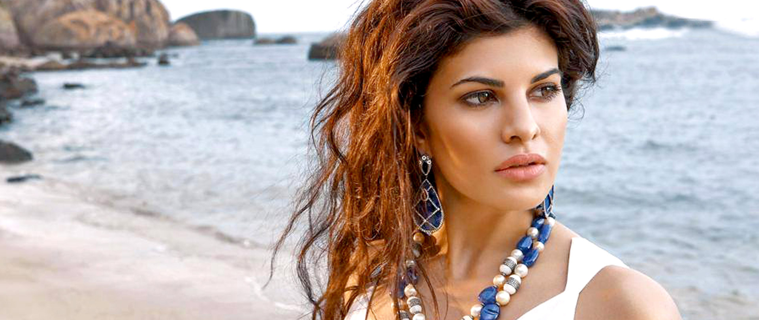 Free Download Full Hd Wallpaper Jacqueline Fernandez: Jacqueline Fernandez Latest Beach Photoshoot, Full HD