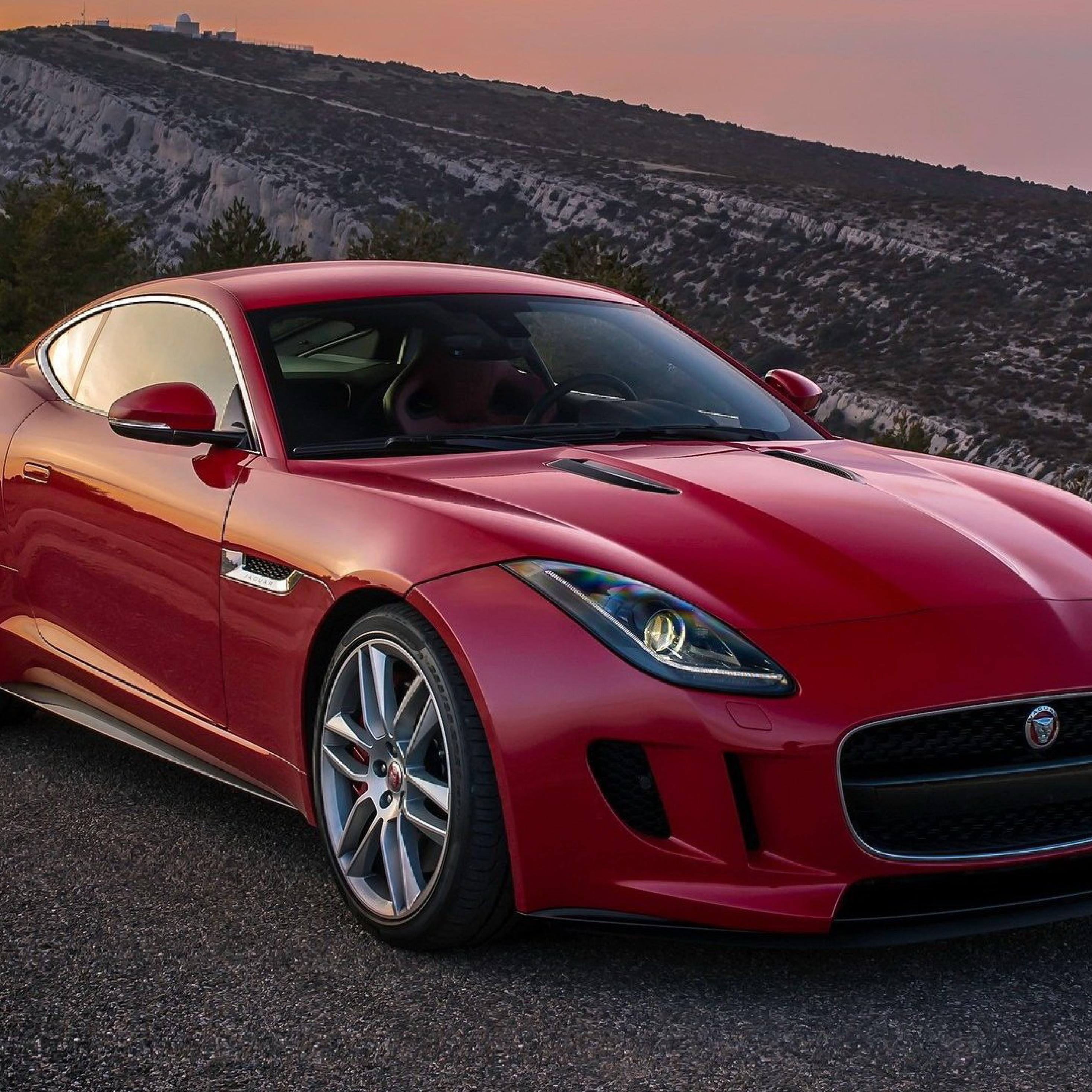 Jaguar Car Wallpaper: Jaguar, F-type, Red, Full HD Wallpaper