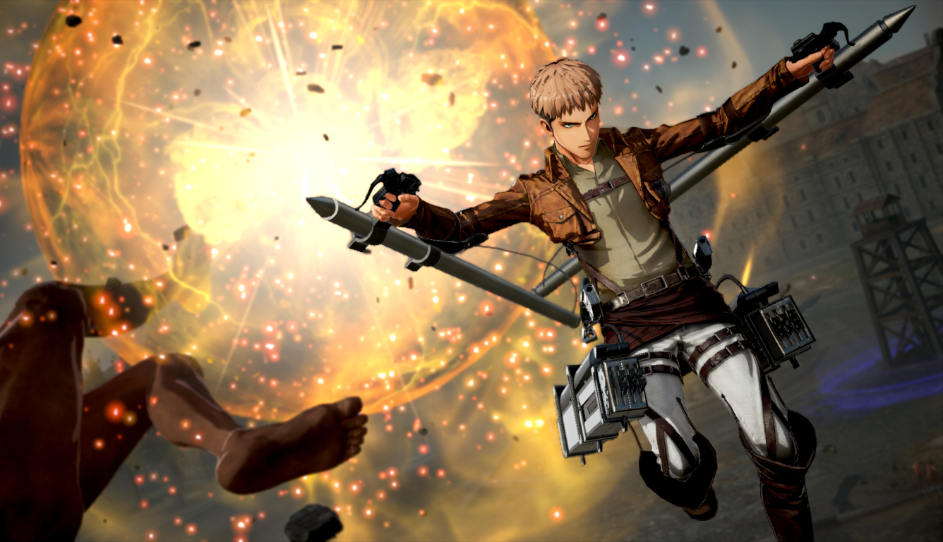 1336x768 Jean Thunder Spear Attack On Titan 2 Hd Laptop Wallpaper Hd Games 4k Wallpapers Images Photos And Background