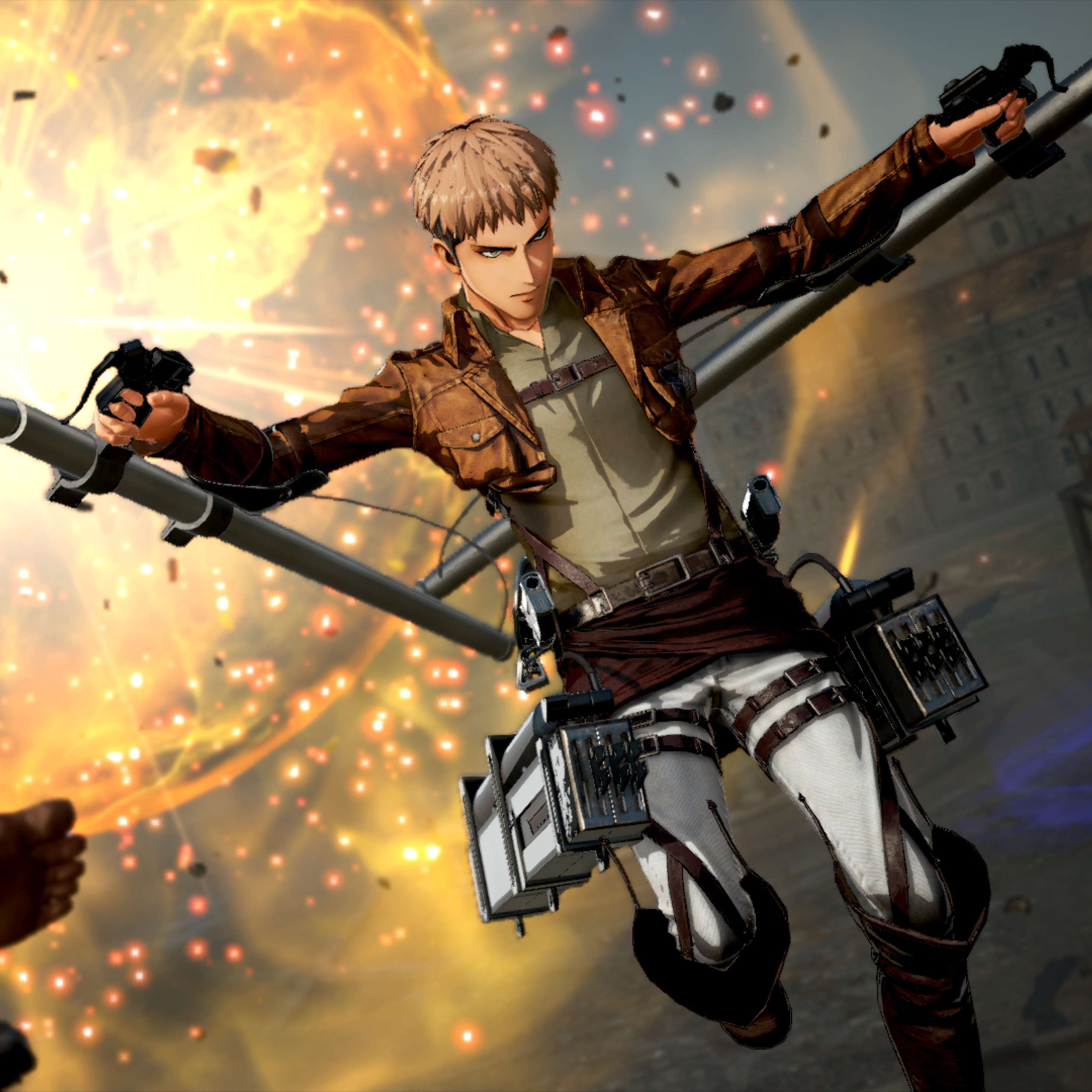 2932x2932 Jean Thunder Spear Attack On Titan 2 Ipad Pro Retina Display Wallpaper Hd Games 4k Wallpapers Images Photos And Background
