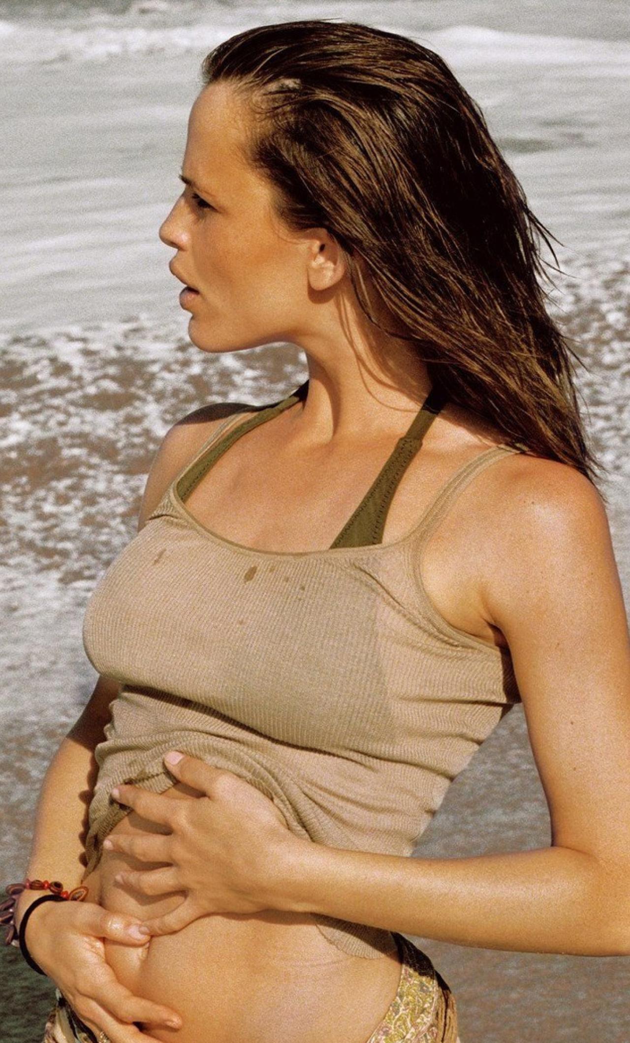 Jennifer Garner Hot Beach Photoshoot, Full Hd Wallpaper-5889