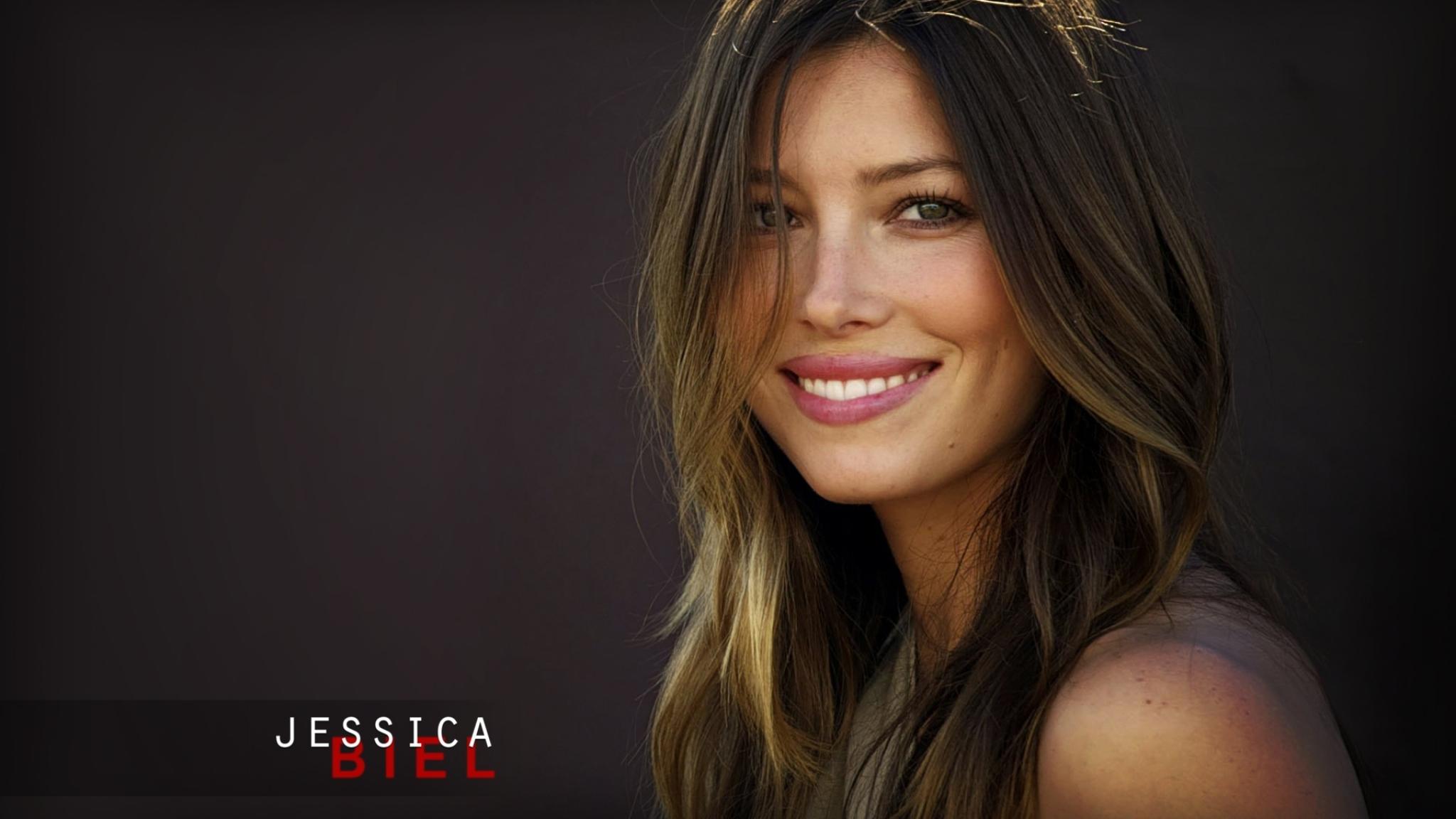Jessica Biel Smile Poster  Full Hd Wallpaper