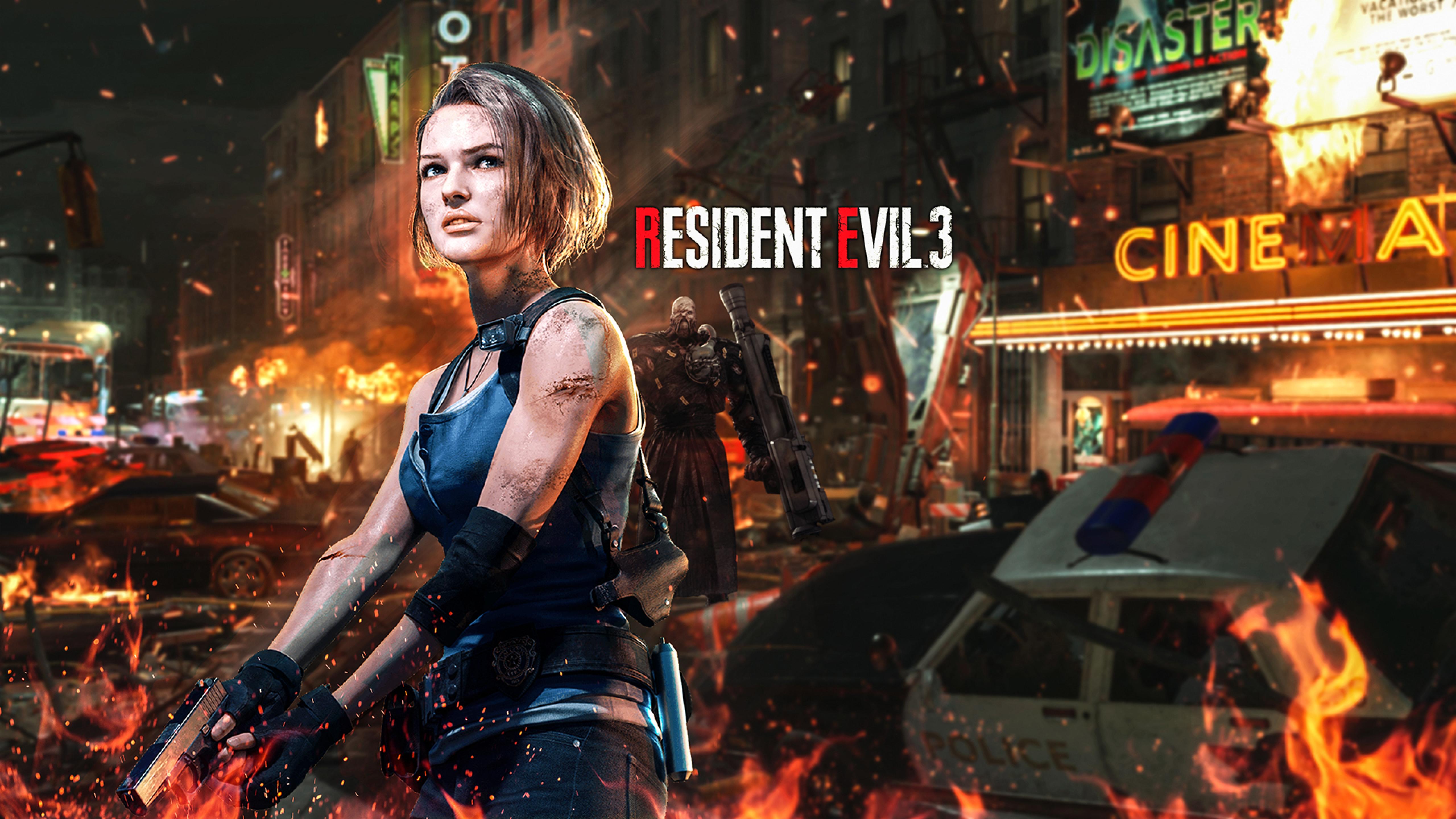 5120x2880 Jill Valentine Resident Evil 2020 Art 5k Wallpaper Hd