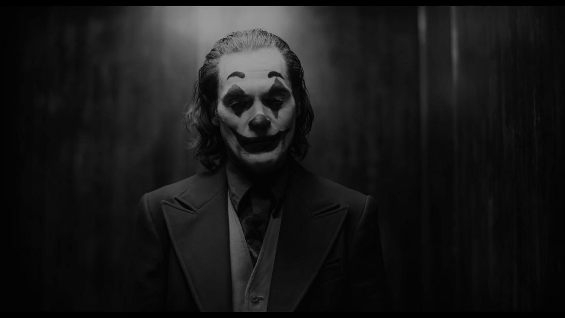 Joaquin Phoenix As Joker Monochrome Wallpaper Hd Movies 4k