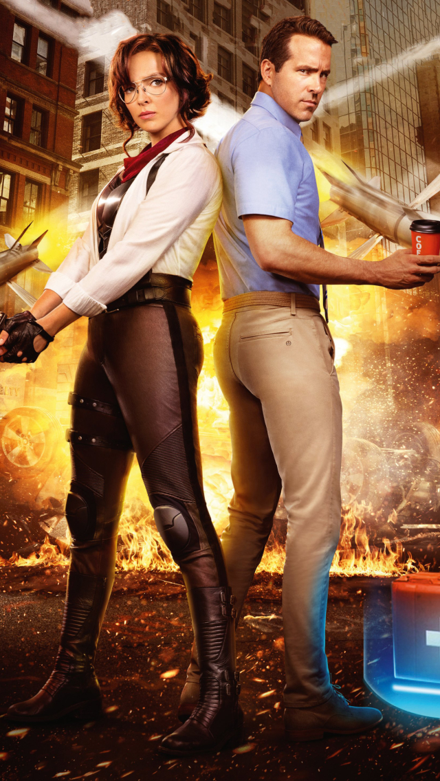 640x1136 Jodie Comer and Ryan Reynolds Free Guy iPhone 5