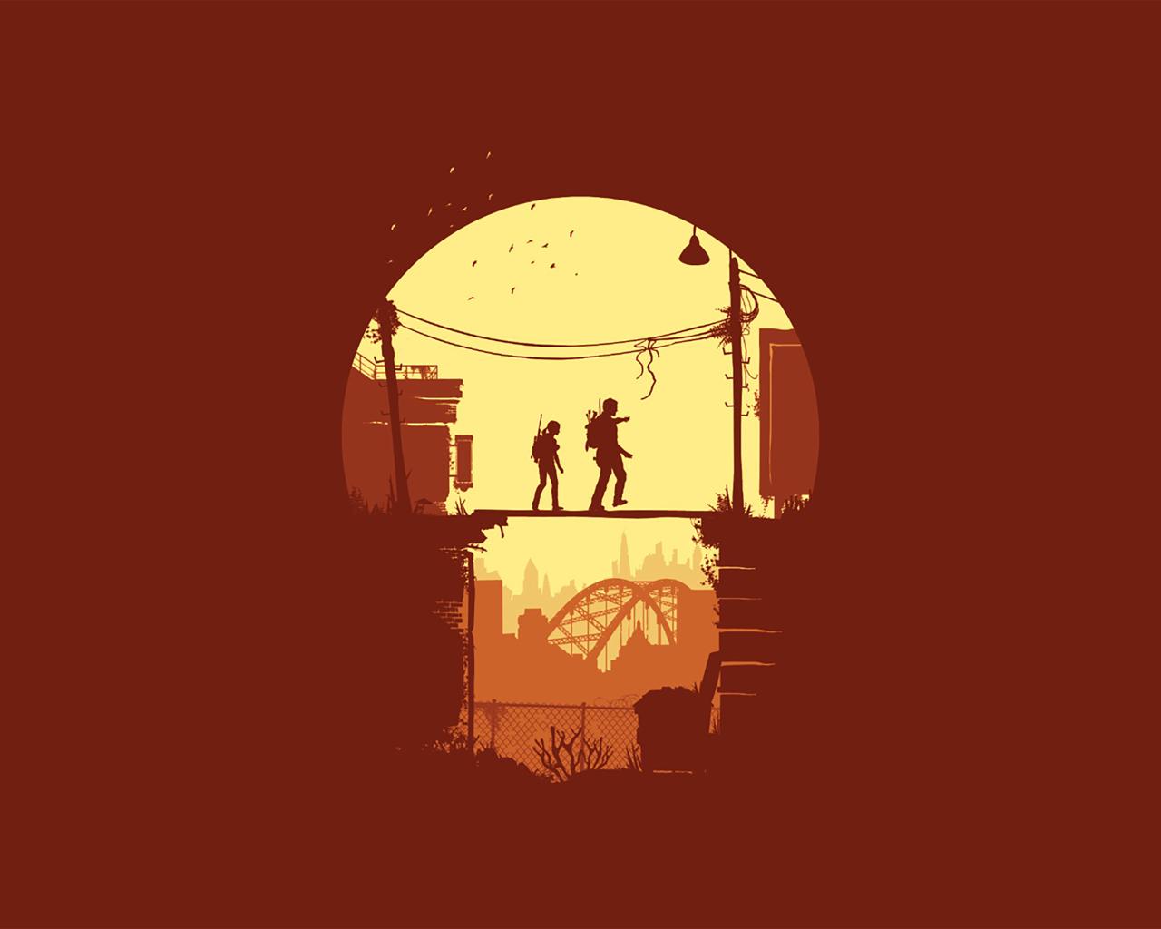 1280x1024 Joel And Ellie The Last Of Us Minimal 1280x1024