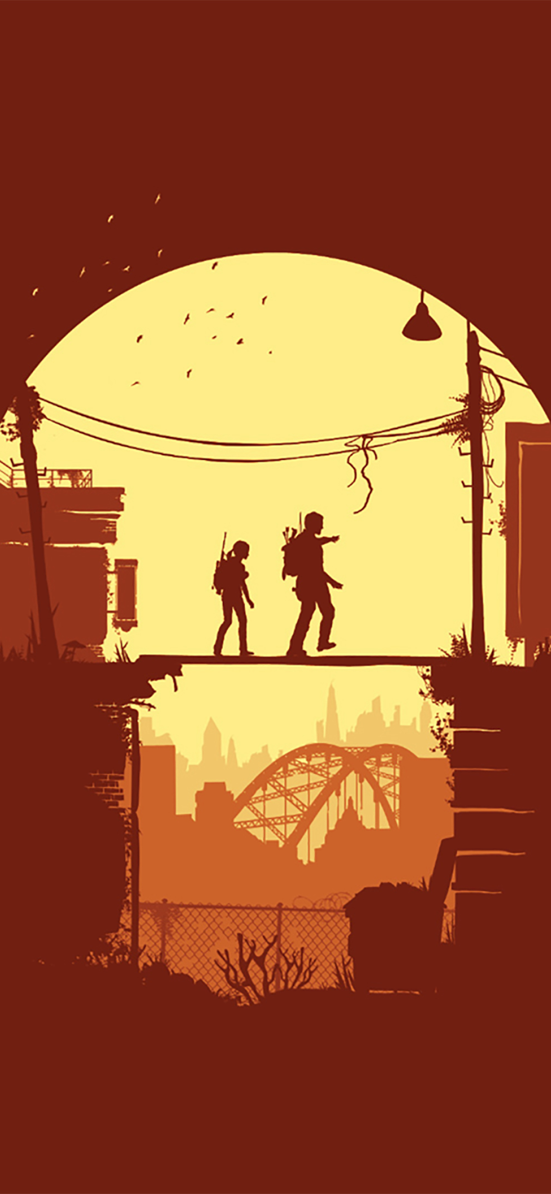 1125x2436 Joel And Ellie The Last Of Us Minimal Iphone Xs Iphone