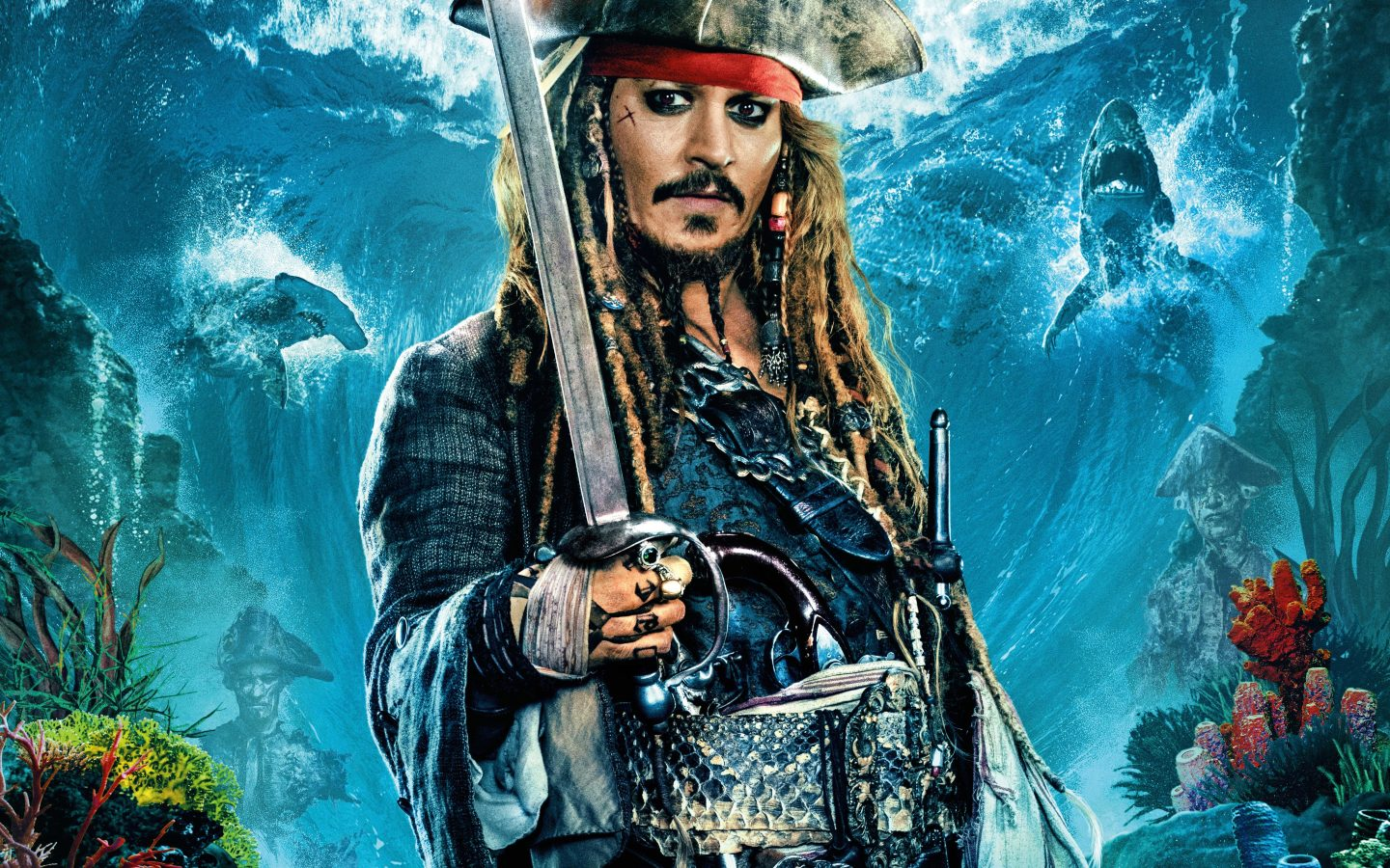 Johnny Depp As Jack Sparrow In Pirates Of The Caribbean