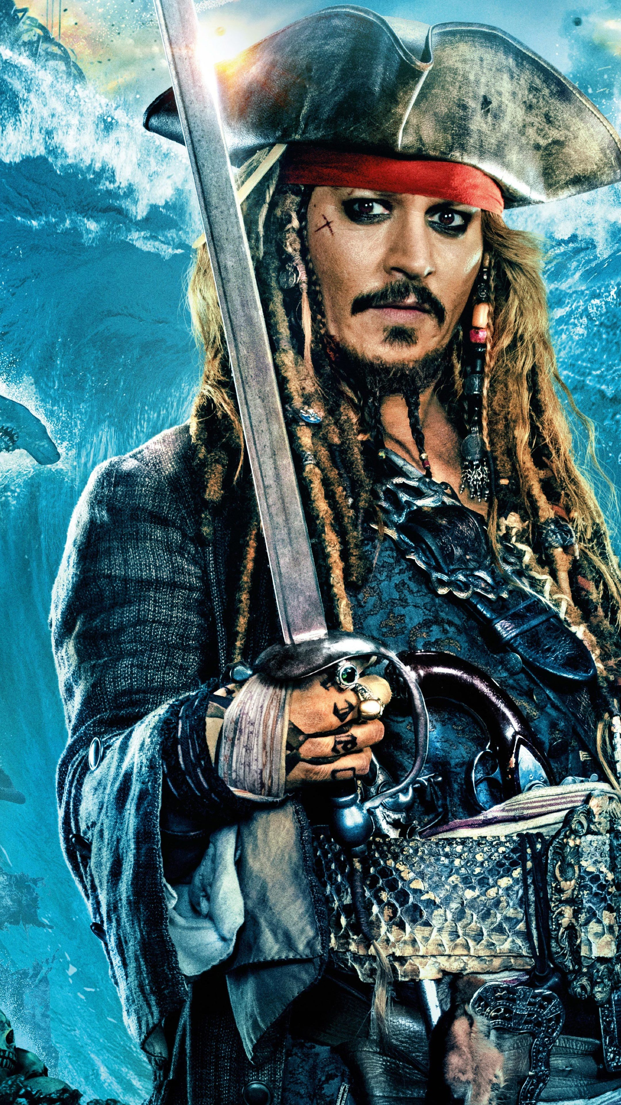 2160x3840 Johnny Depp As Jack Sparrow In Pirates Of The Caribbean Dead Men Tell No Tales Sony Xperia X Xz Z5 Premium Wallpaper Hd Movies 4k Wallpapers Images Photos And Background