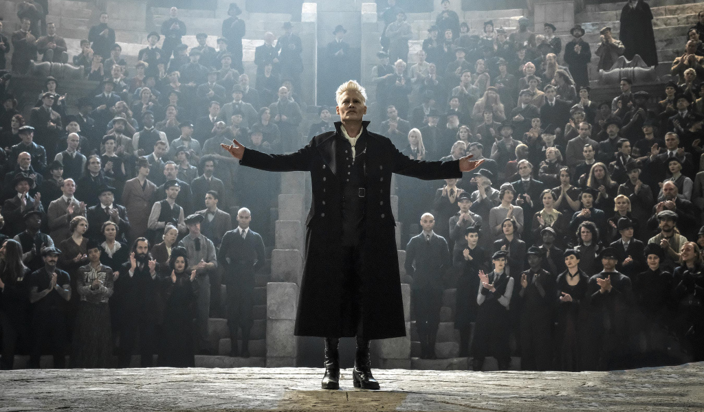 1024x600 Johnny Depp In Fantastic Beasts 2018 Movie 1024x600