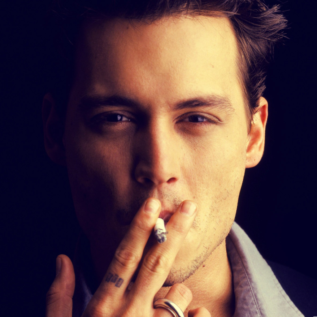 Johnny Depp With Cigarette Full HD Wallpaper