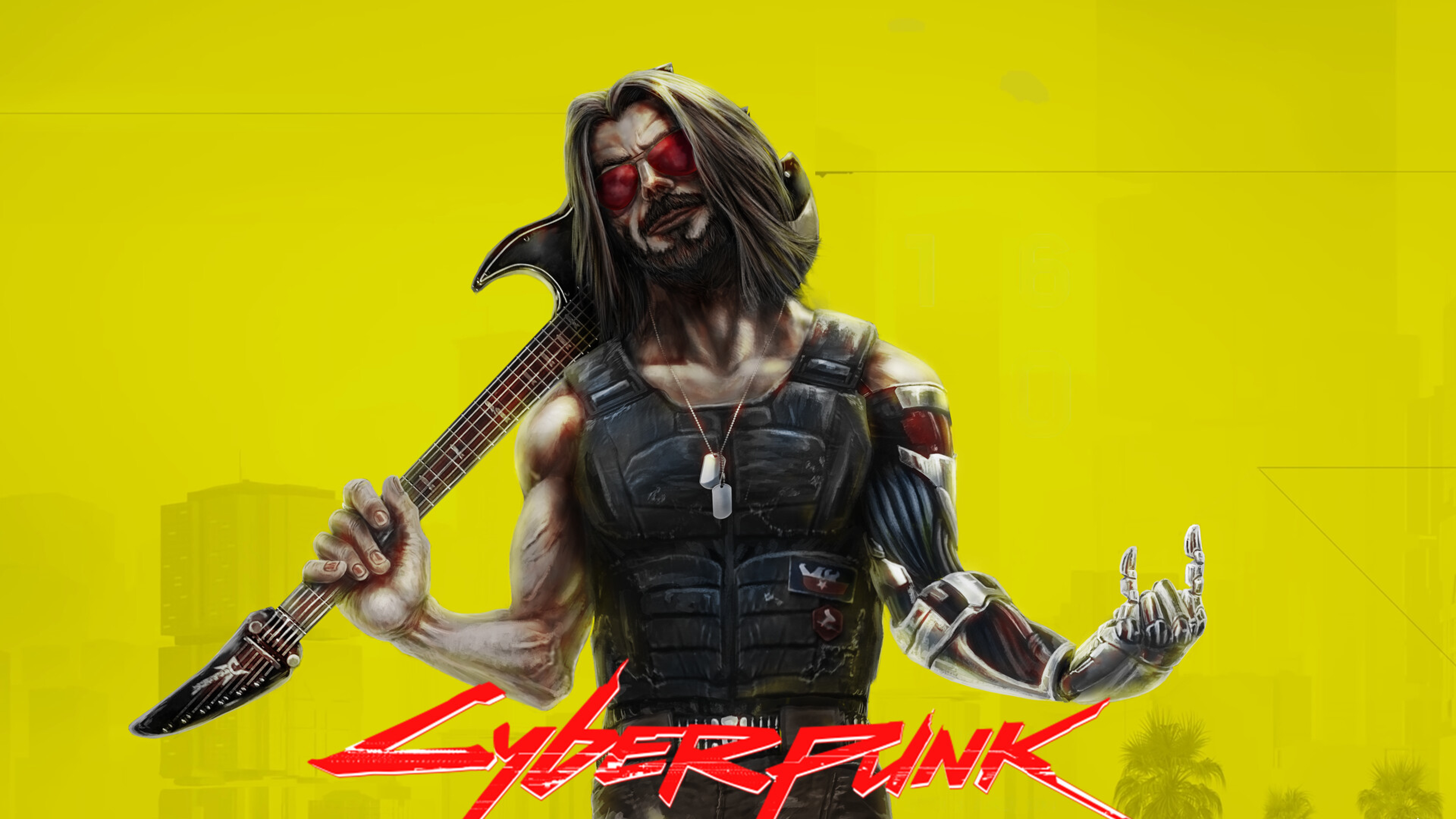 3840x2160 Johnny Silverhand aka Keanu Reeves In Cyberpunk ...