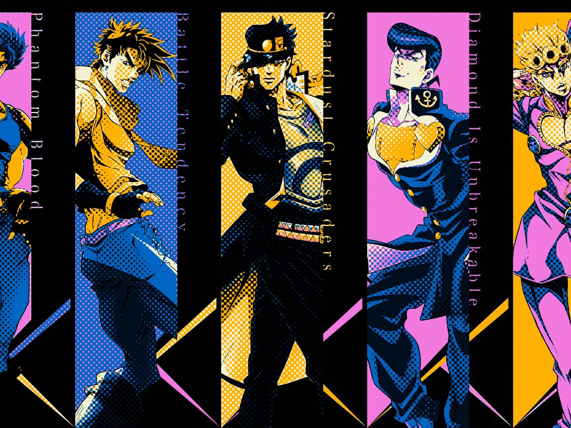 1152x864 Jojo's Bizarre Adventure All Characters 1152x864 Resolution Wallpaper, HD Anime 4K ...