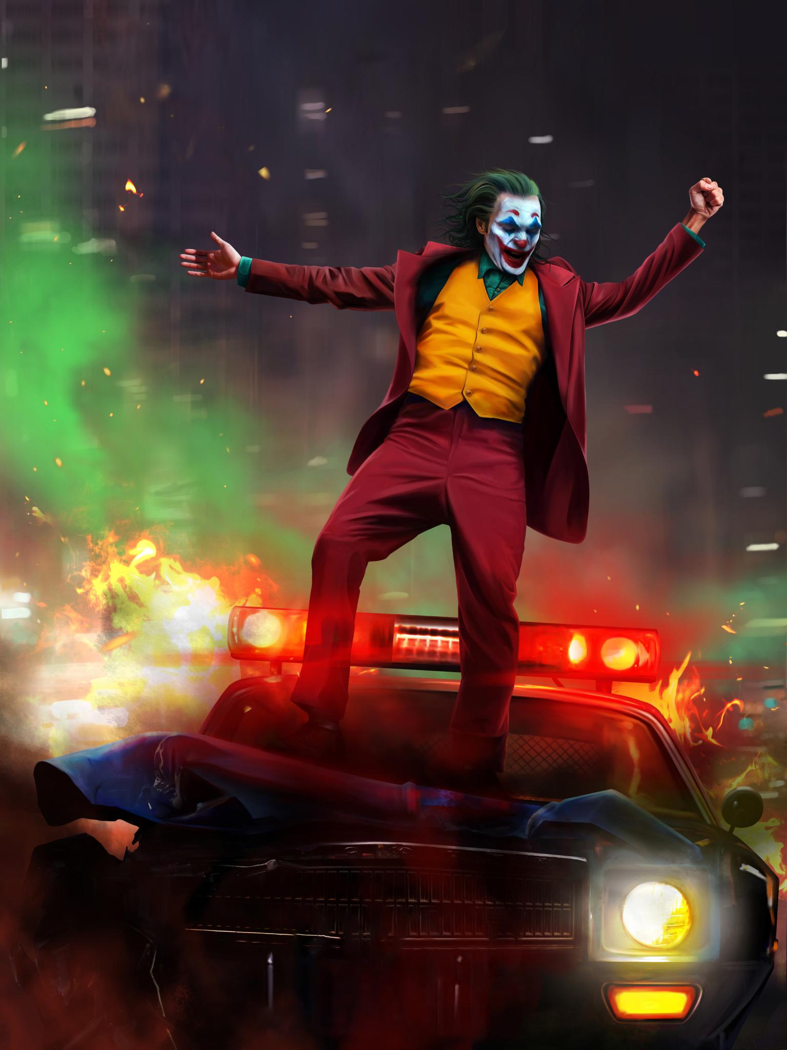 Black Neon: Ultra Hd Neon Joker Wallpaper