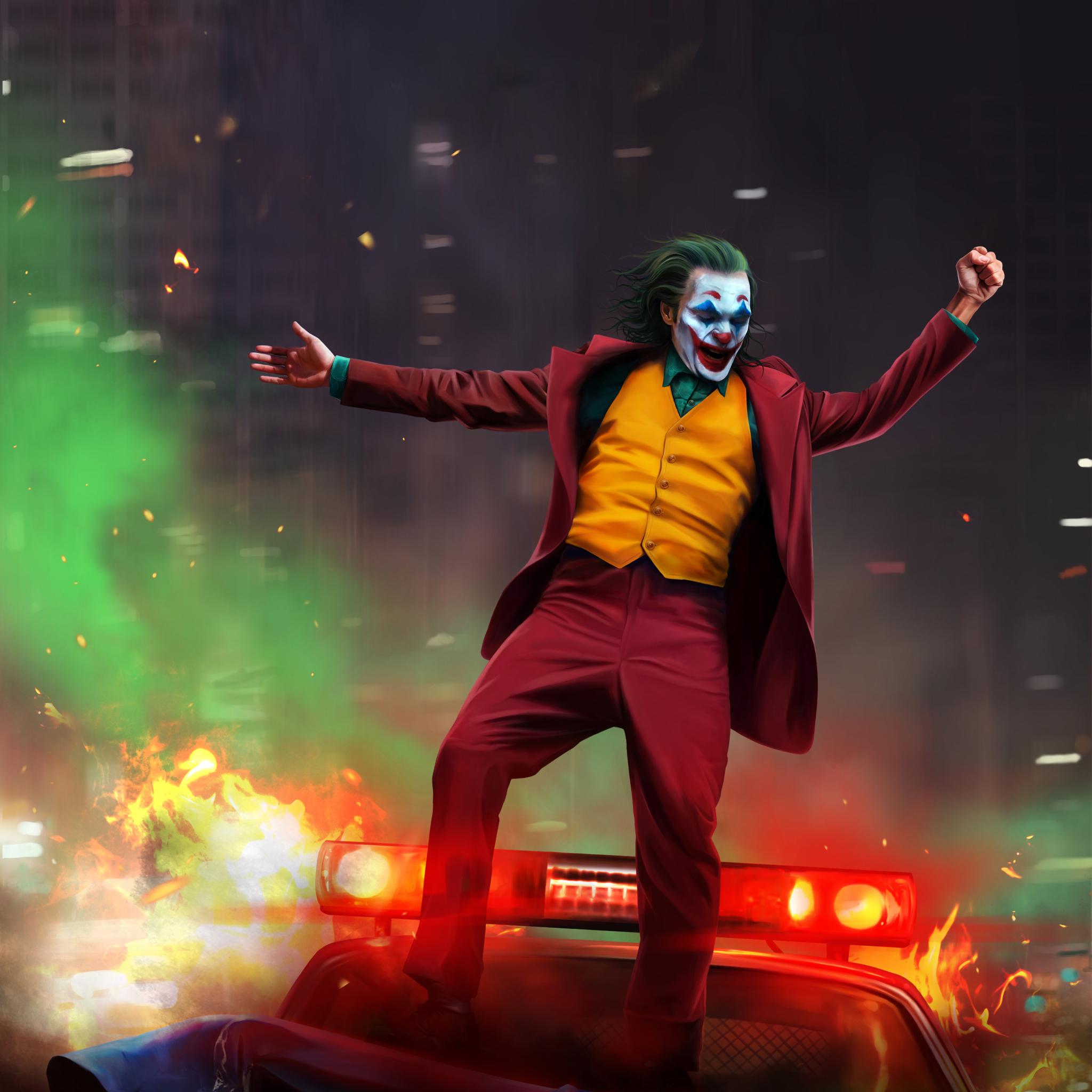 2048x2048 Joker 2019 Artwork Ipad Air Wallpaper, HD Artist