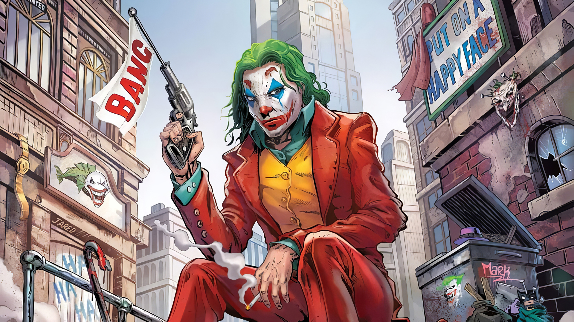 1280x720 Joker Comic 4K 720P Wallpaper, HD Superheroes 4K ...