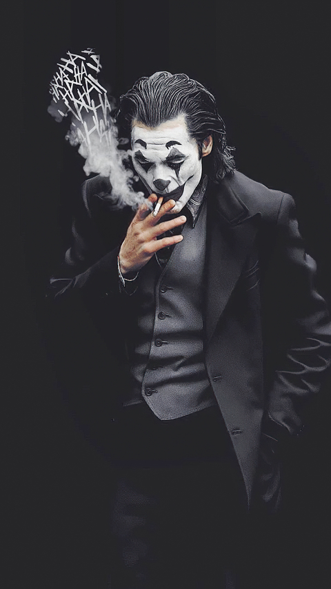 480x854 Joker Smoking Monochrome Android One Mobile ...
