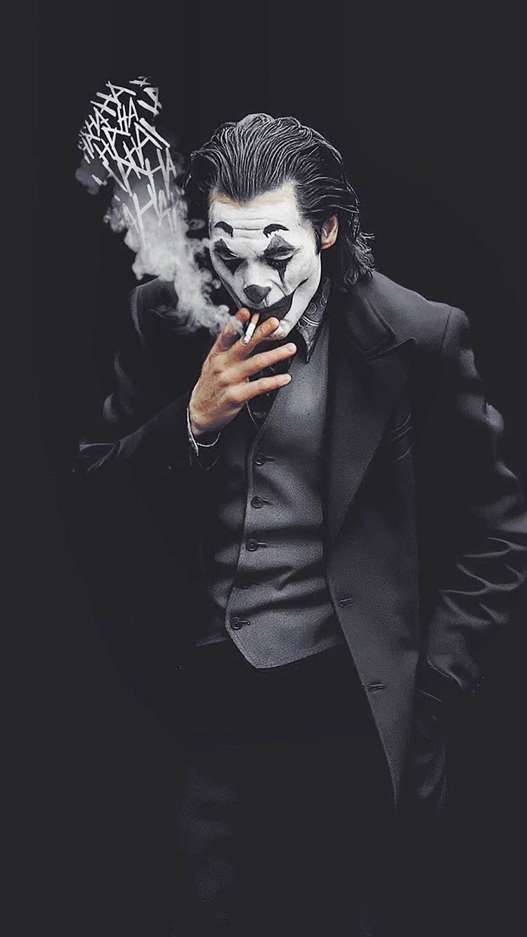 750x1334 Joker Smoking Monochrome iPhone 6, iPhone 6S ...