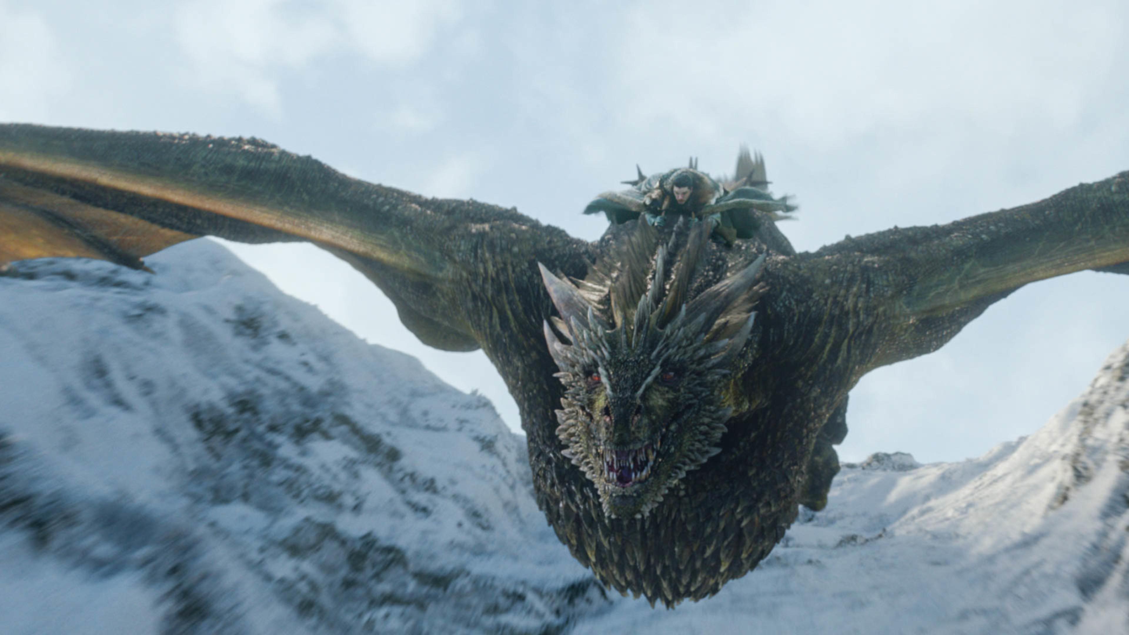 3840x2160 Jon Snow Flying Dragon 4k Image Hd Tv Series 4k