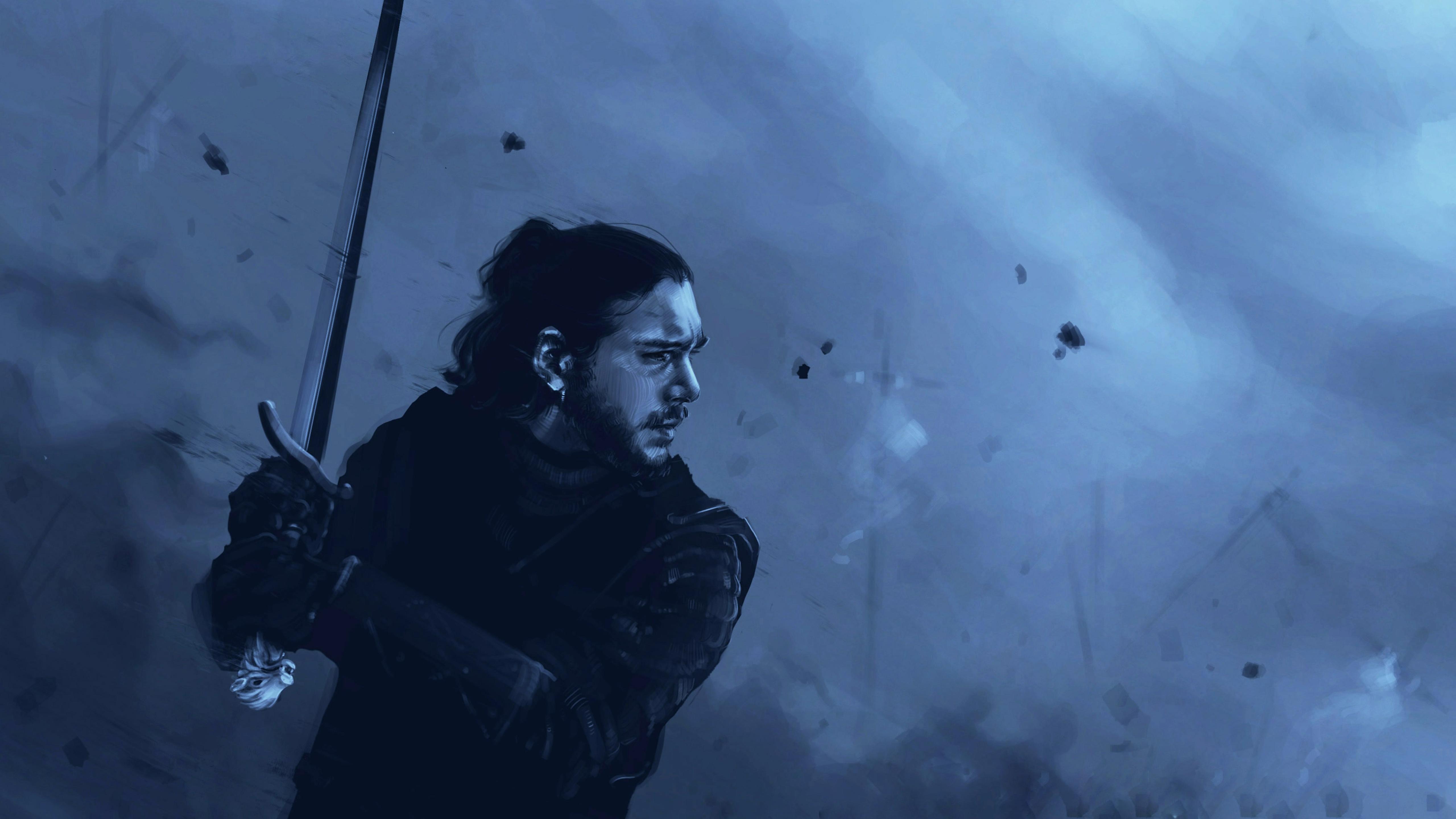 5120x2880 Jon Snow Game Of Thrones Art 5k Wallpaper Hd Tv Series
