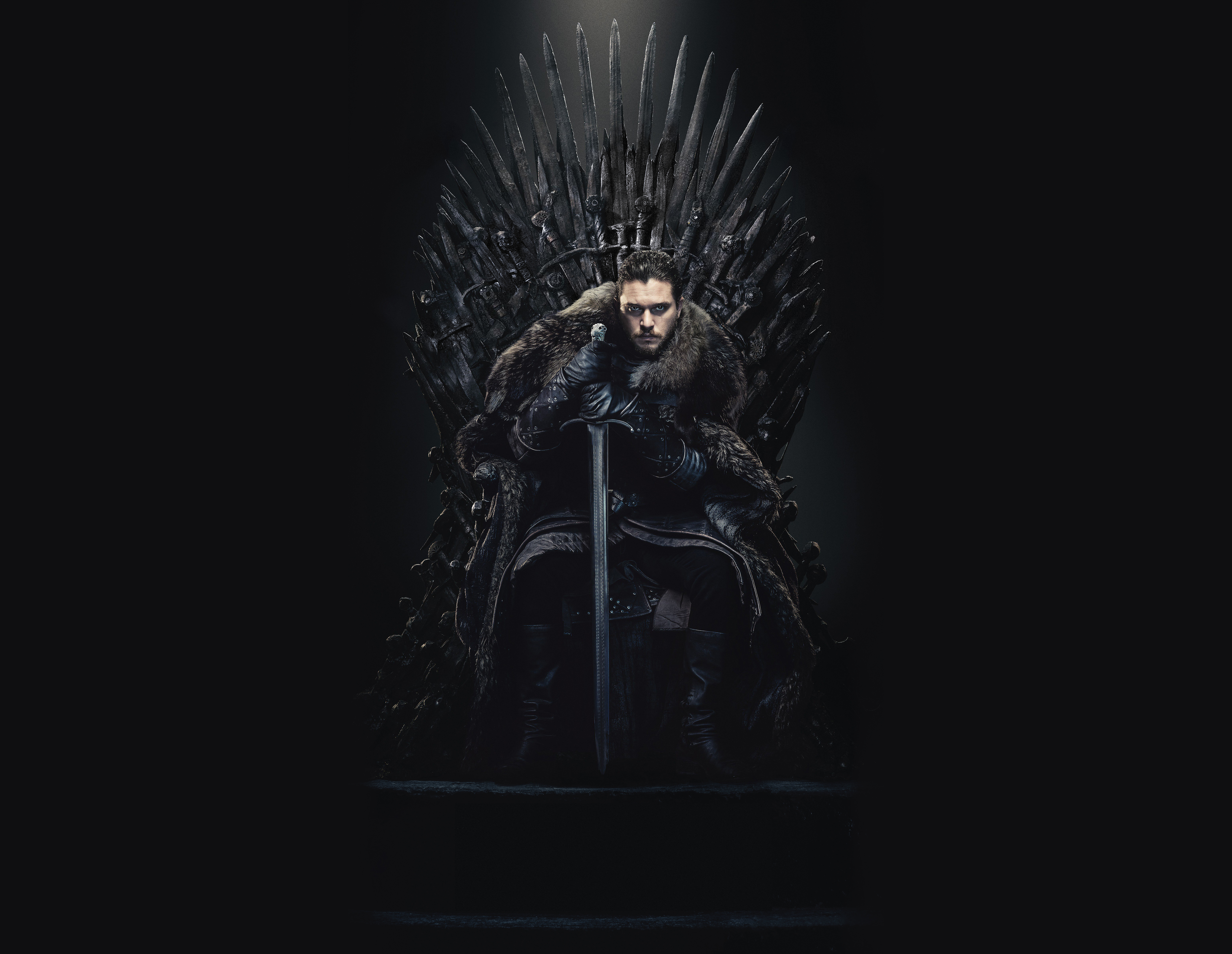 Jon Snow In The Iron Throne Wallpaper Hd Tv Series 4k Wallpapers