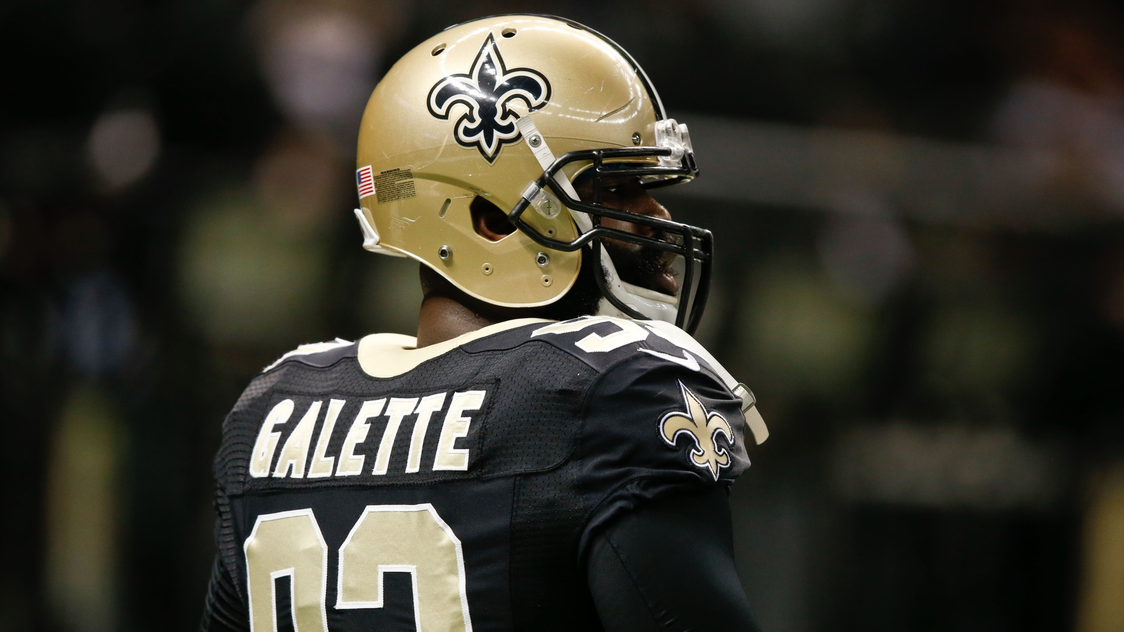 3840x2160 Junior Galette American Football New Orleans Saints 4k