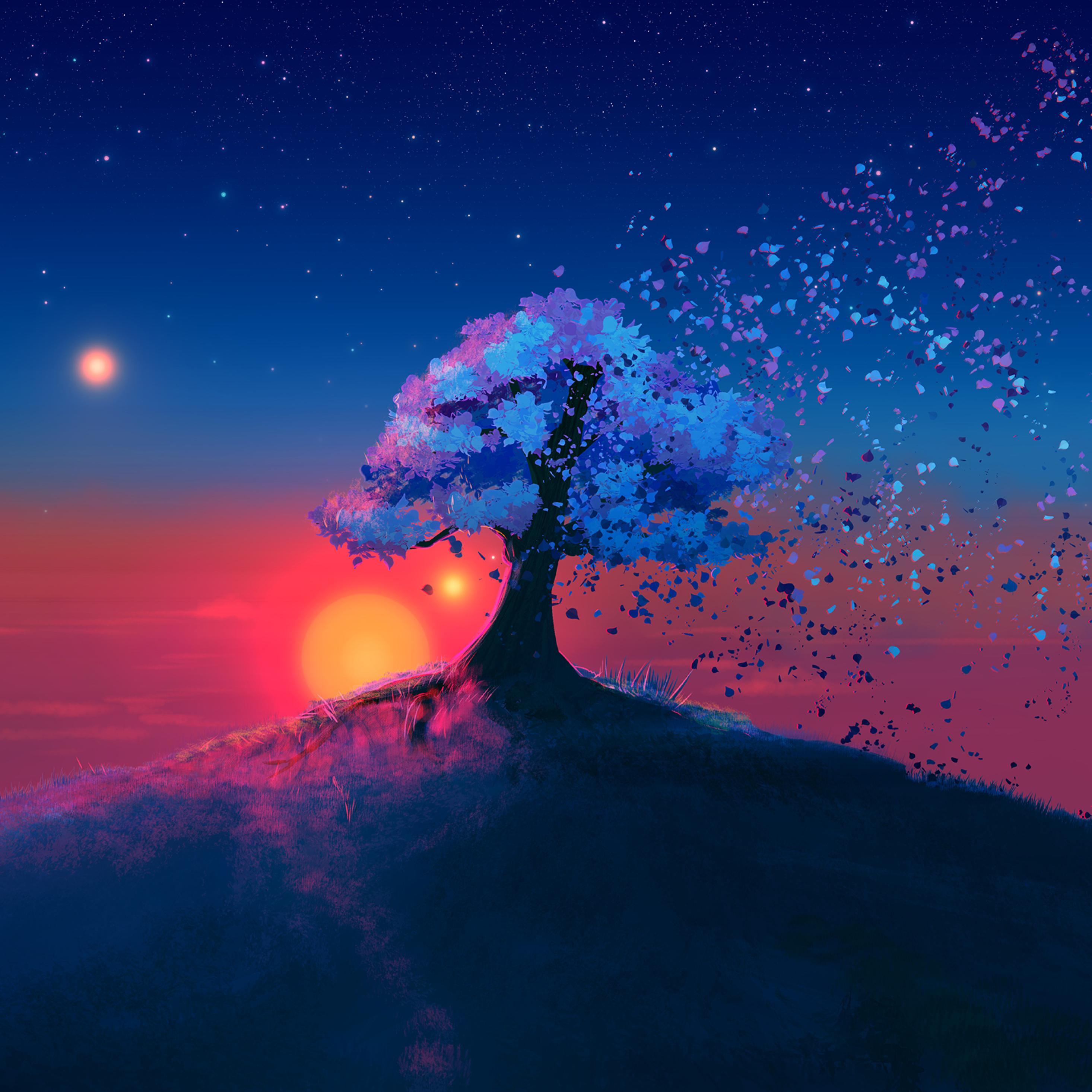 12x12 Just A Tree Ipad Pro Retina Display Wallpaper, HD Artist ...