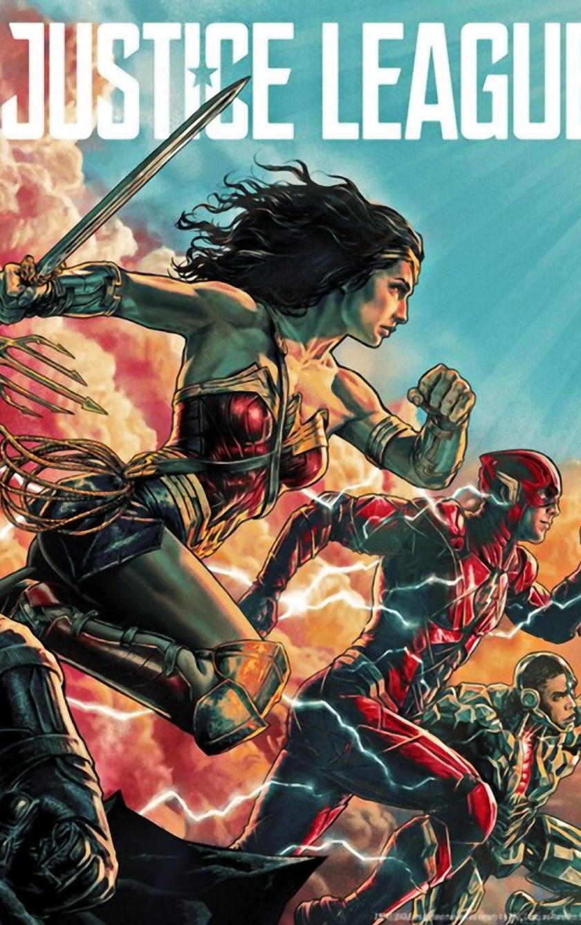 Justice League Comic Art Poster HD 4K Wallpaper
