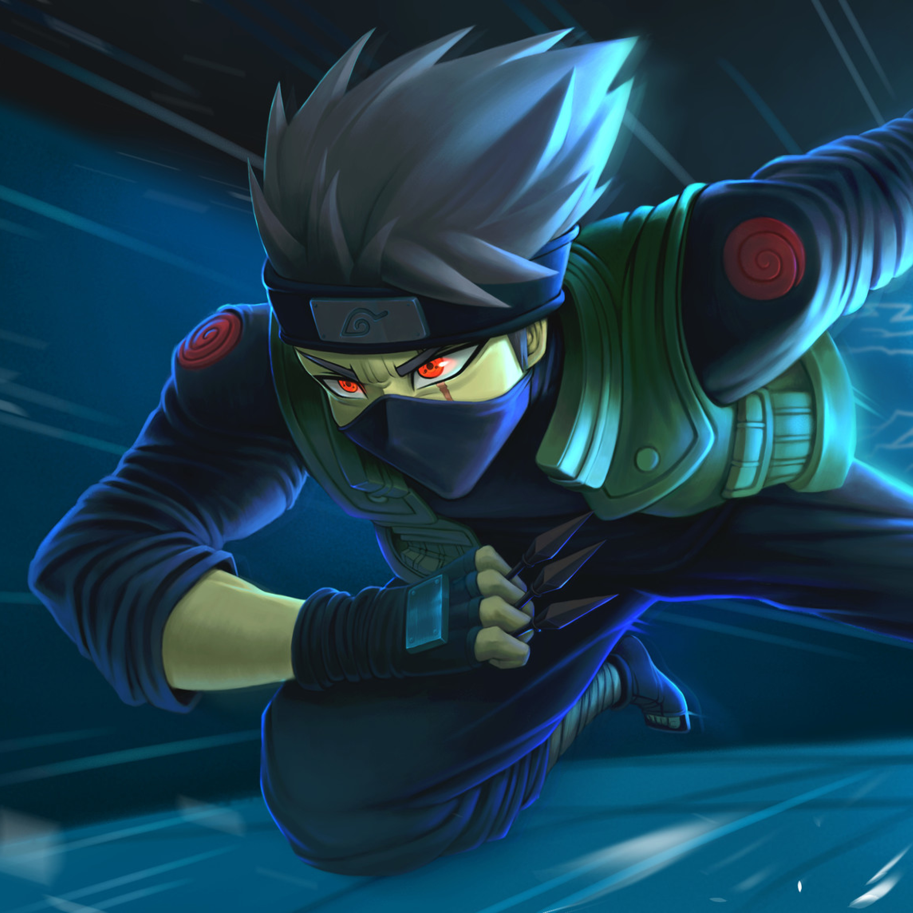 3x3 Kakashi Hatake Anime Ipad Pro Retina Display Wallpaper