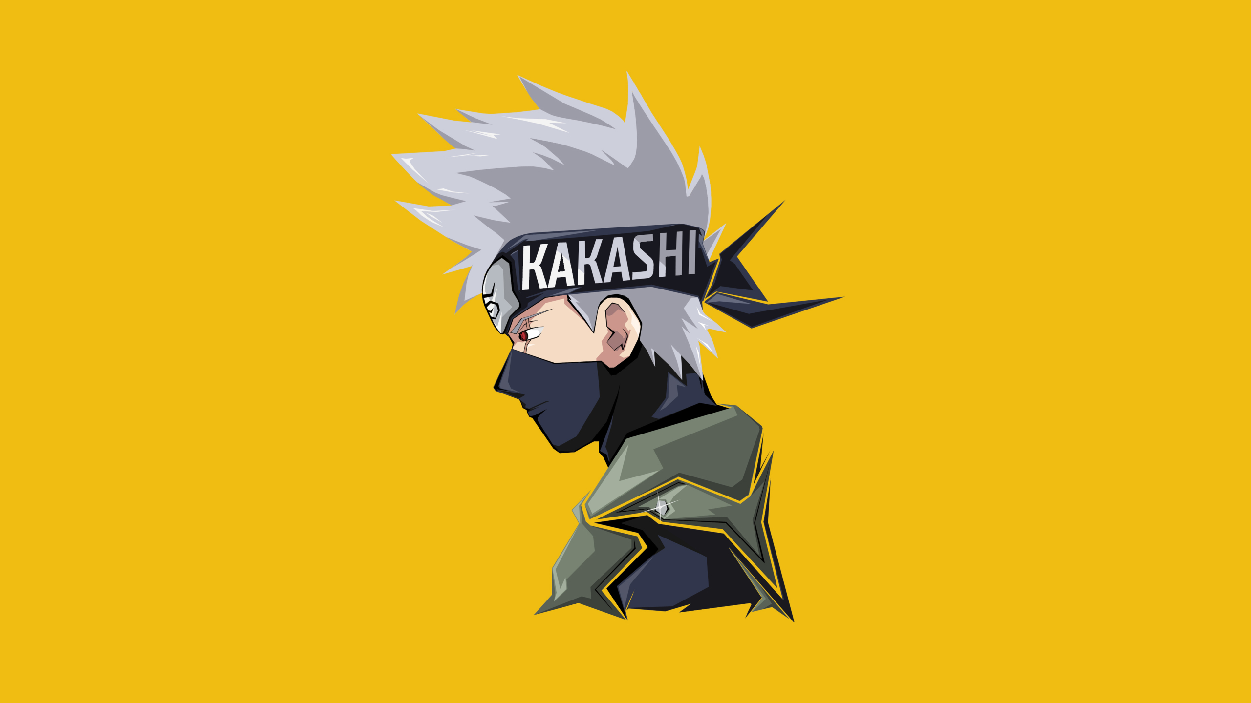2560x1440 Kakashi Hatake Minimal 4k 8k 1440p Resolution Wallpaper Hd Minimalist 4k Wallpapers Images Photos And Background