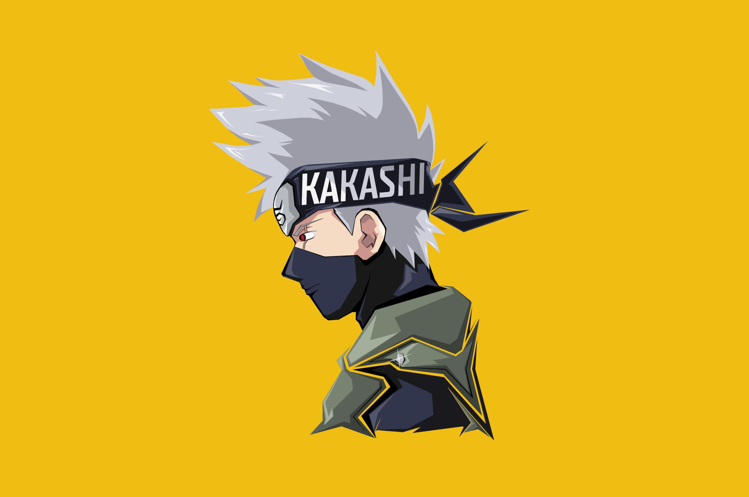 kakashi hatake minimal 4k
