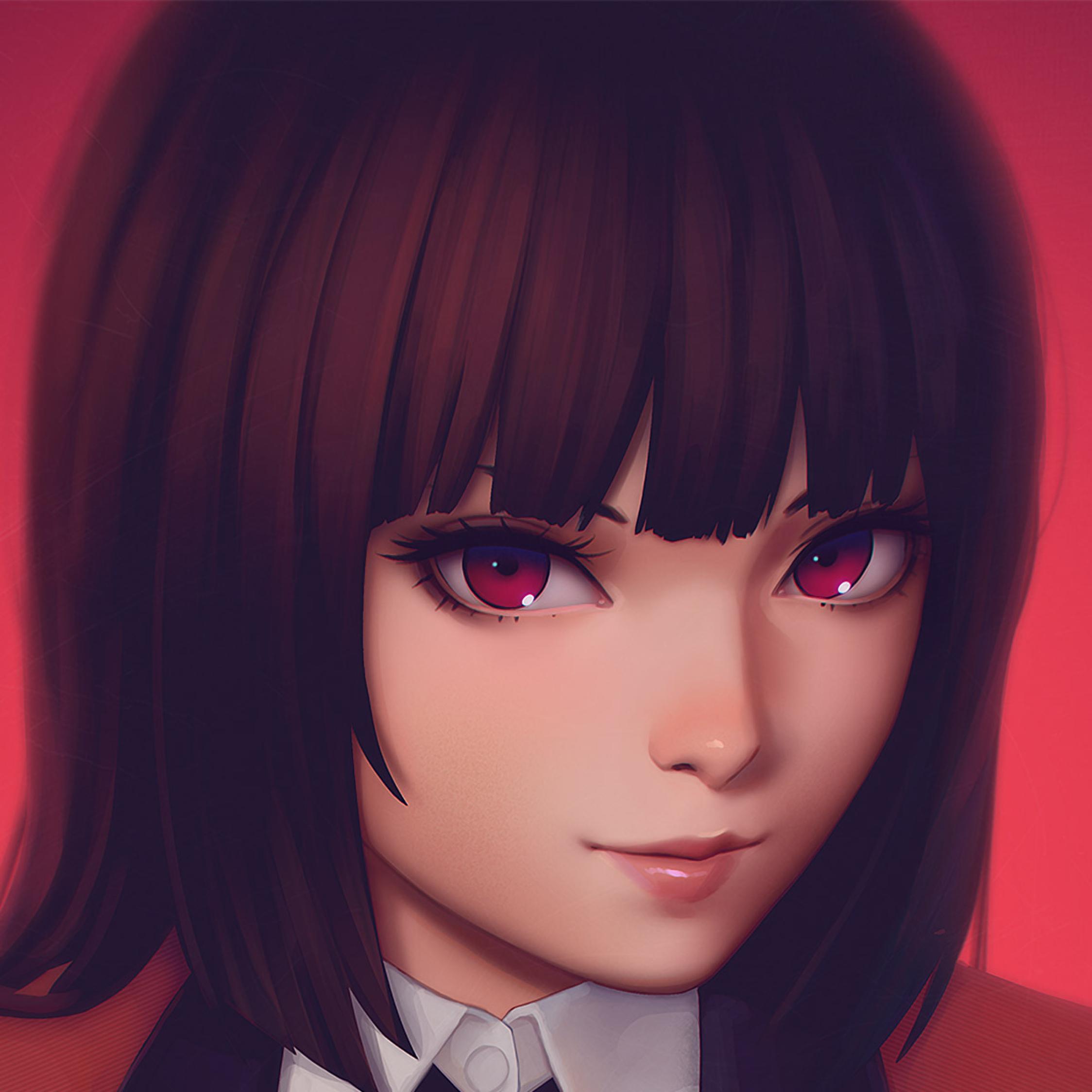 Anime Girl Wallpaper Download: Kakegurui Jabami Yumeko Anime Girl, Full HD Wallpaper