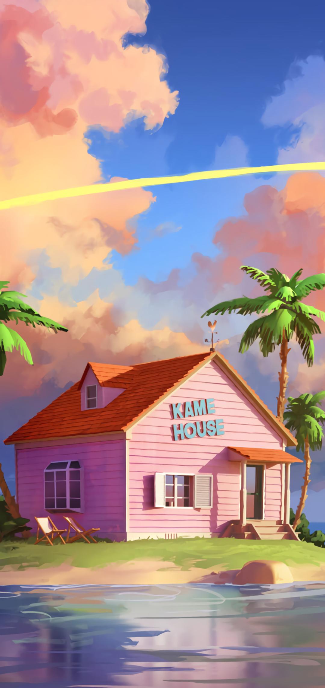 1080x2280 Kame House Dragon Ball Z One Plus 6,Huawei p20 ...