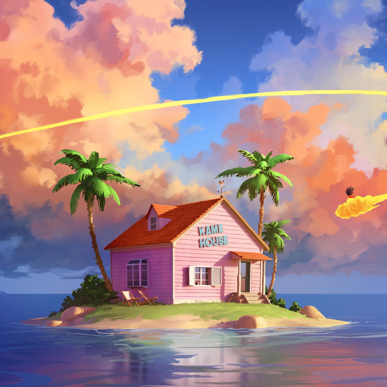 1440x1440 Kame House Dragon Ball Z 1440x1440 Resolution ...
