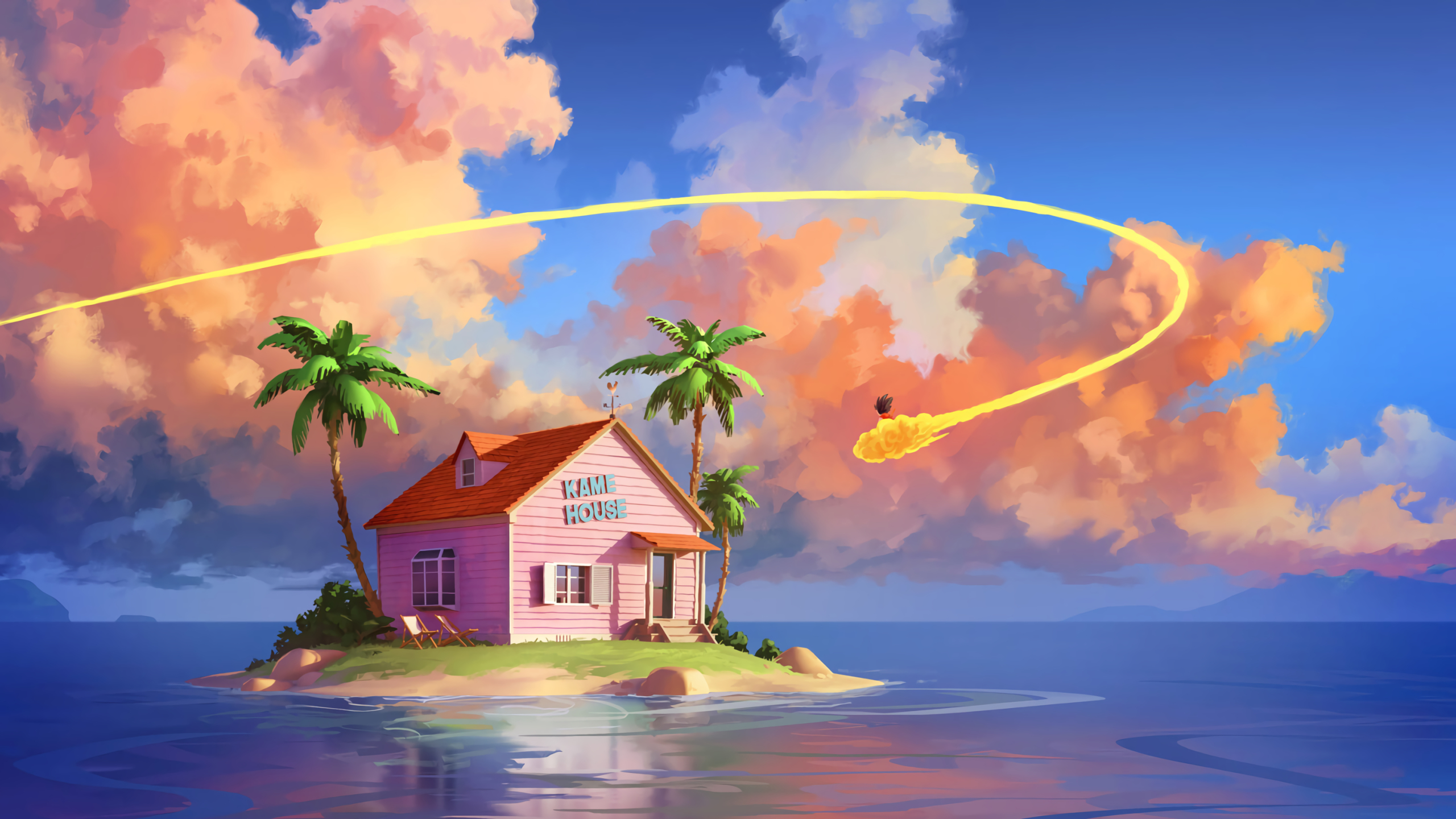 2560x1440 Kame House Dragon Ball Z 1440P Resolution ...