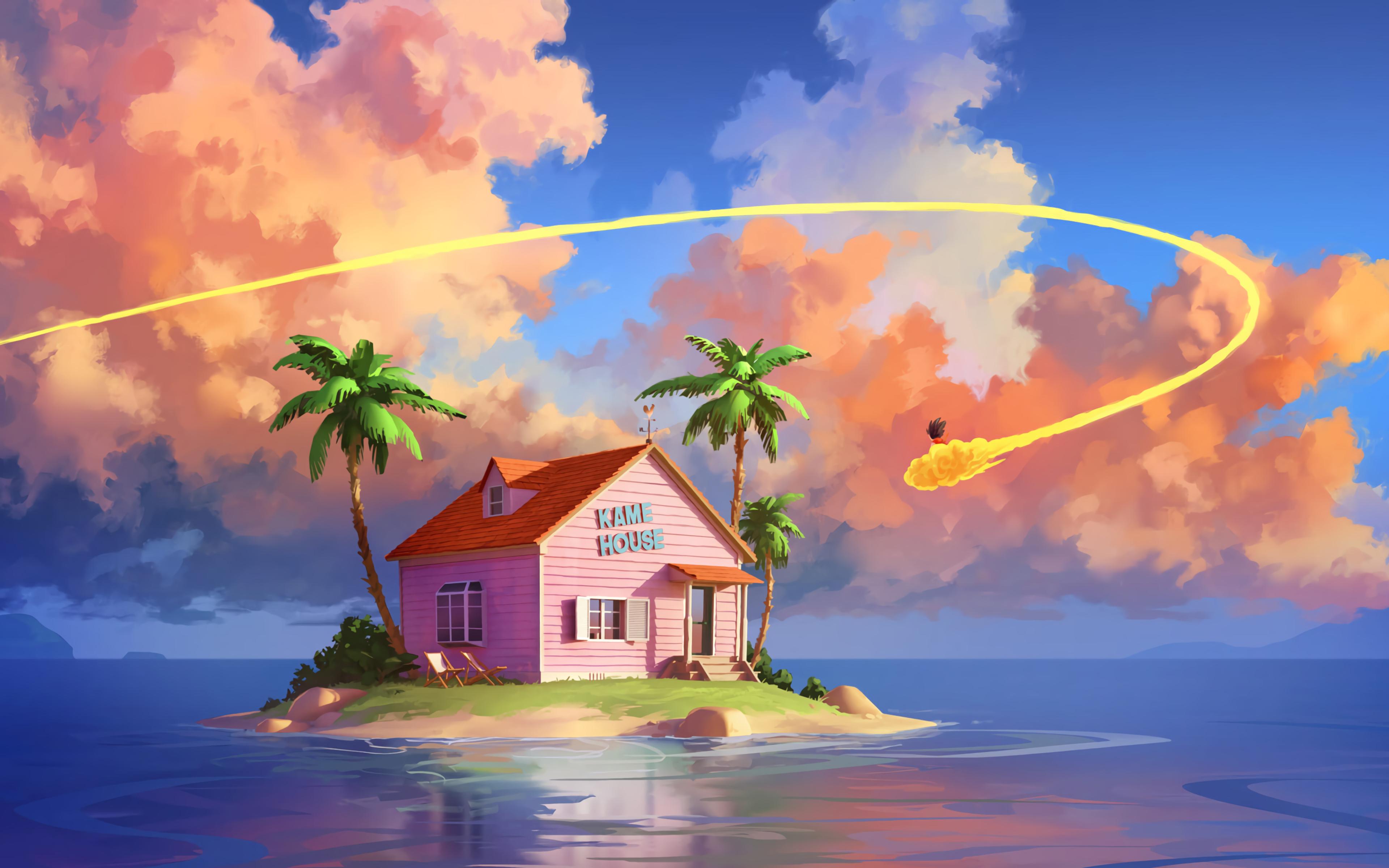 3840x2400 Kame House Dragon Ball Z UHD 4K 3840x2400 ...