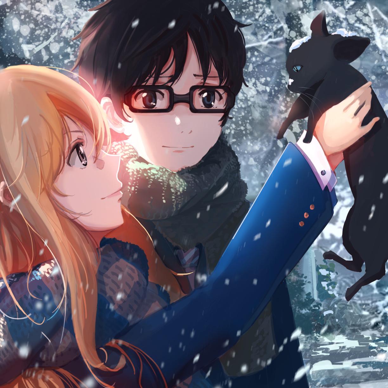 Manga Images Diamond No Ace Hd Wallpaper And Background: Kaori Miyazono, Kousei Arima, Shigatsu Wa Kimi No Uso, HD