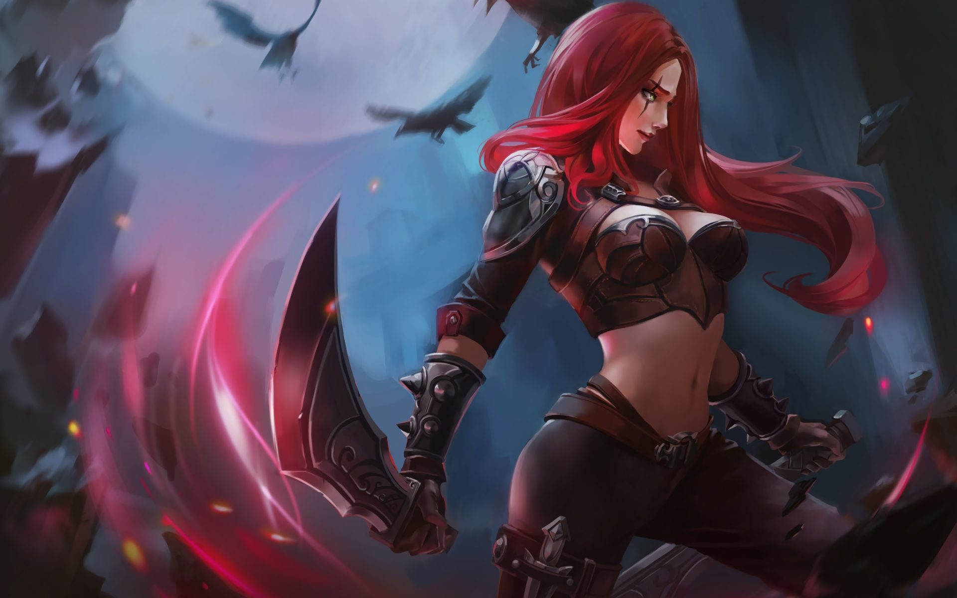 Katarina In League Of Legends Wallpaper Hd Games 4k Wallpapers