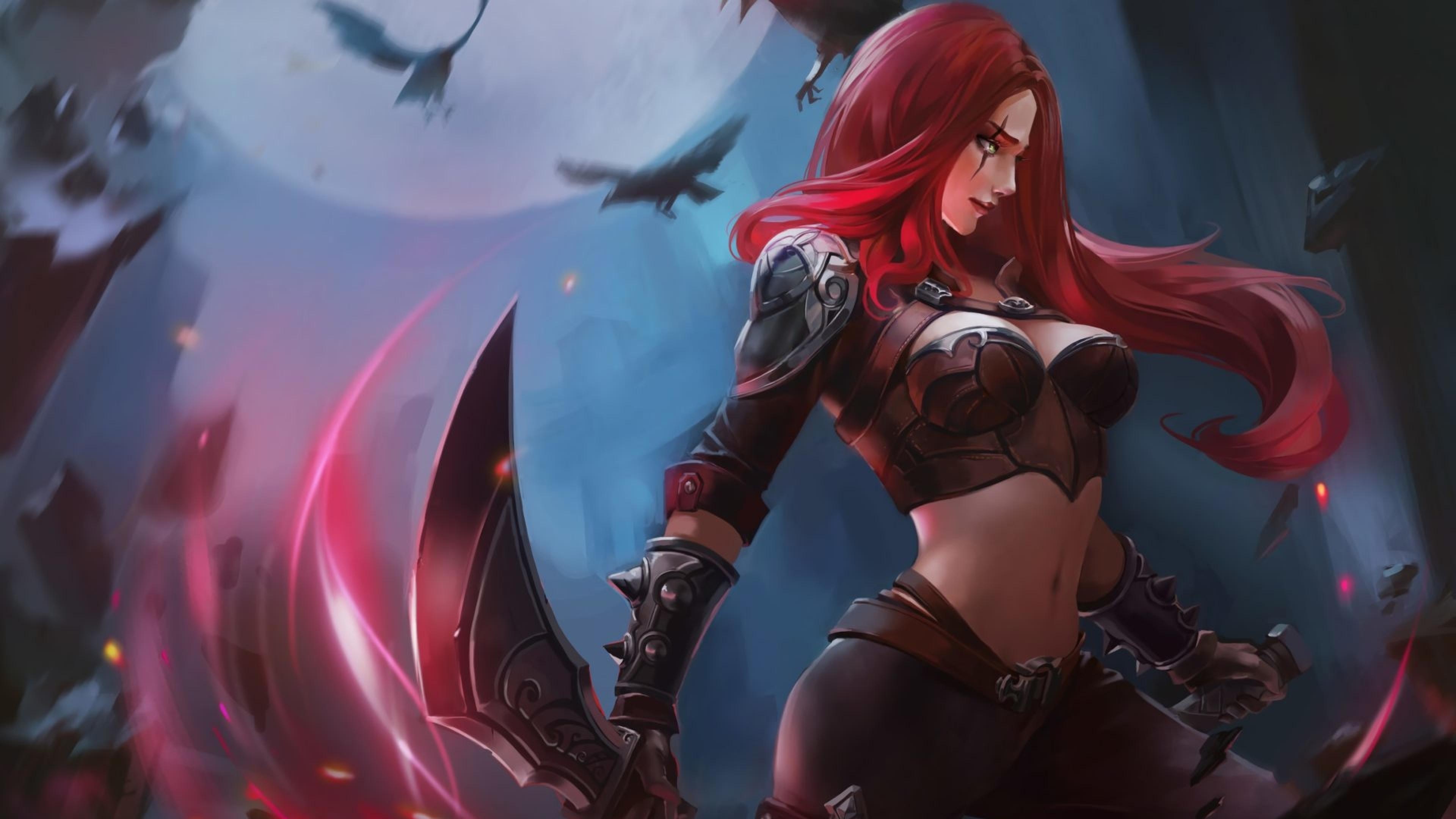 3840x2160 Katarina In League Of Legends 4k Wallpaper Hd Games 4k