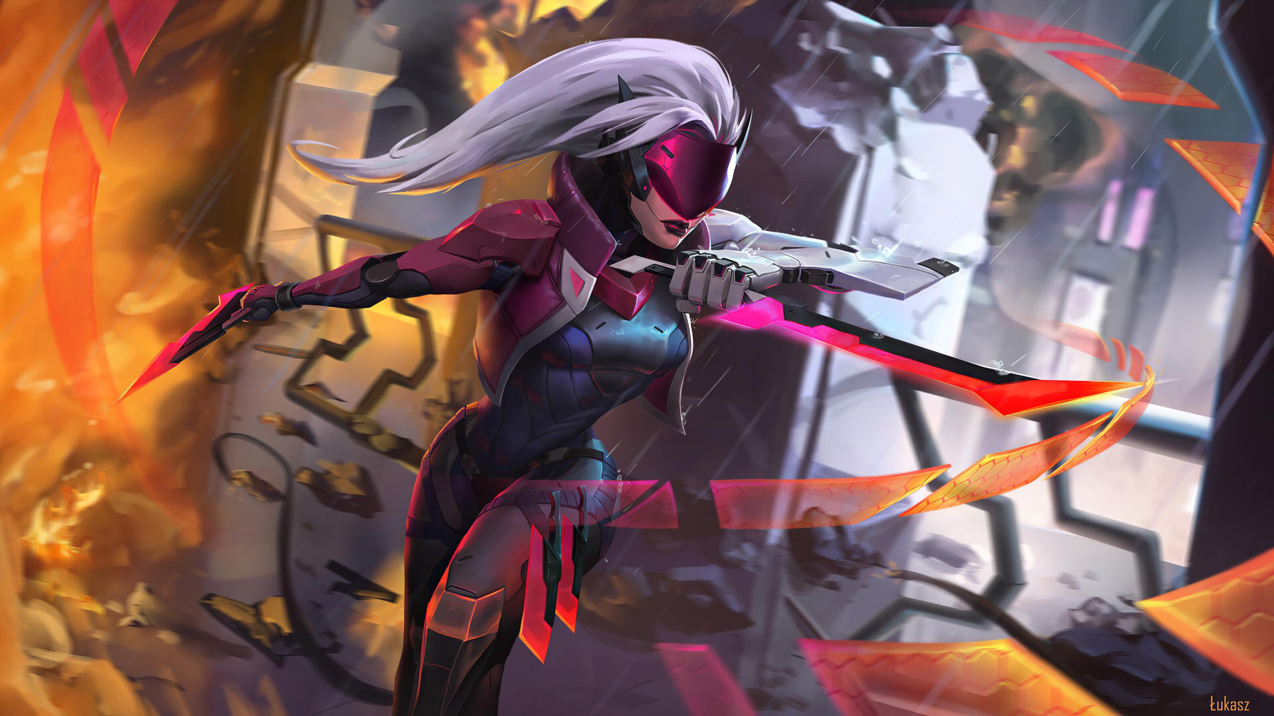 2560x1440 Katarina League Of Legends 1440p Resolution Wallpaper