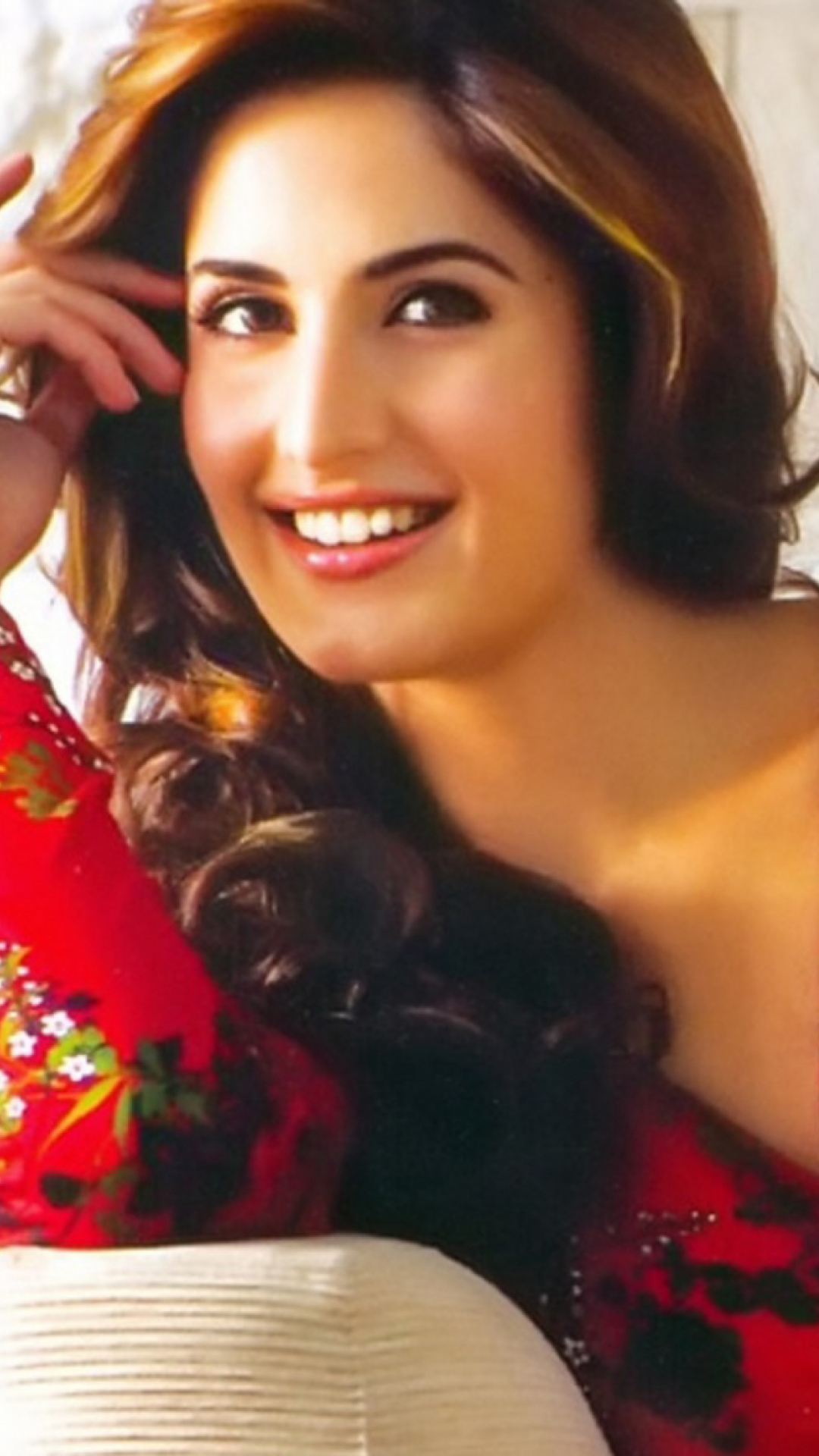 download katrina kaif in red dress 1080x1920 resolution, full hd