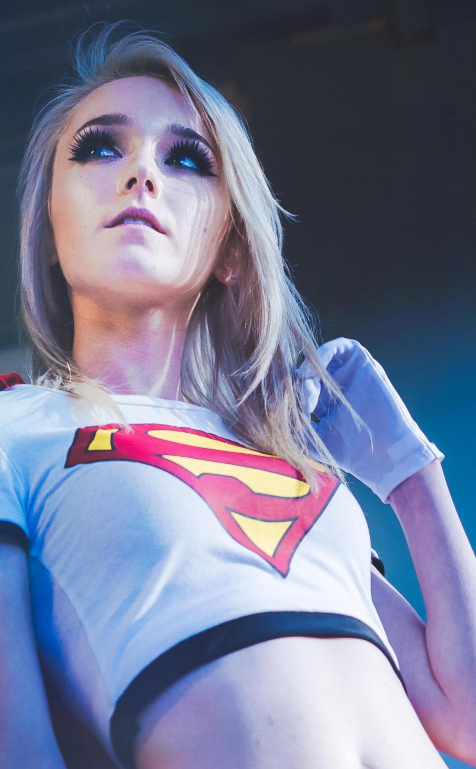 Kawaii queen tsun as supergirl cosplay hd 4k wallpaper - 4k girl wallpaper for iphone ...