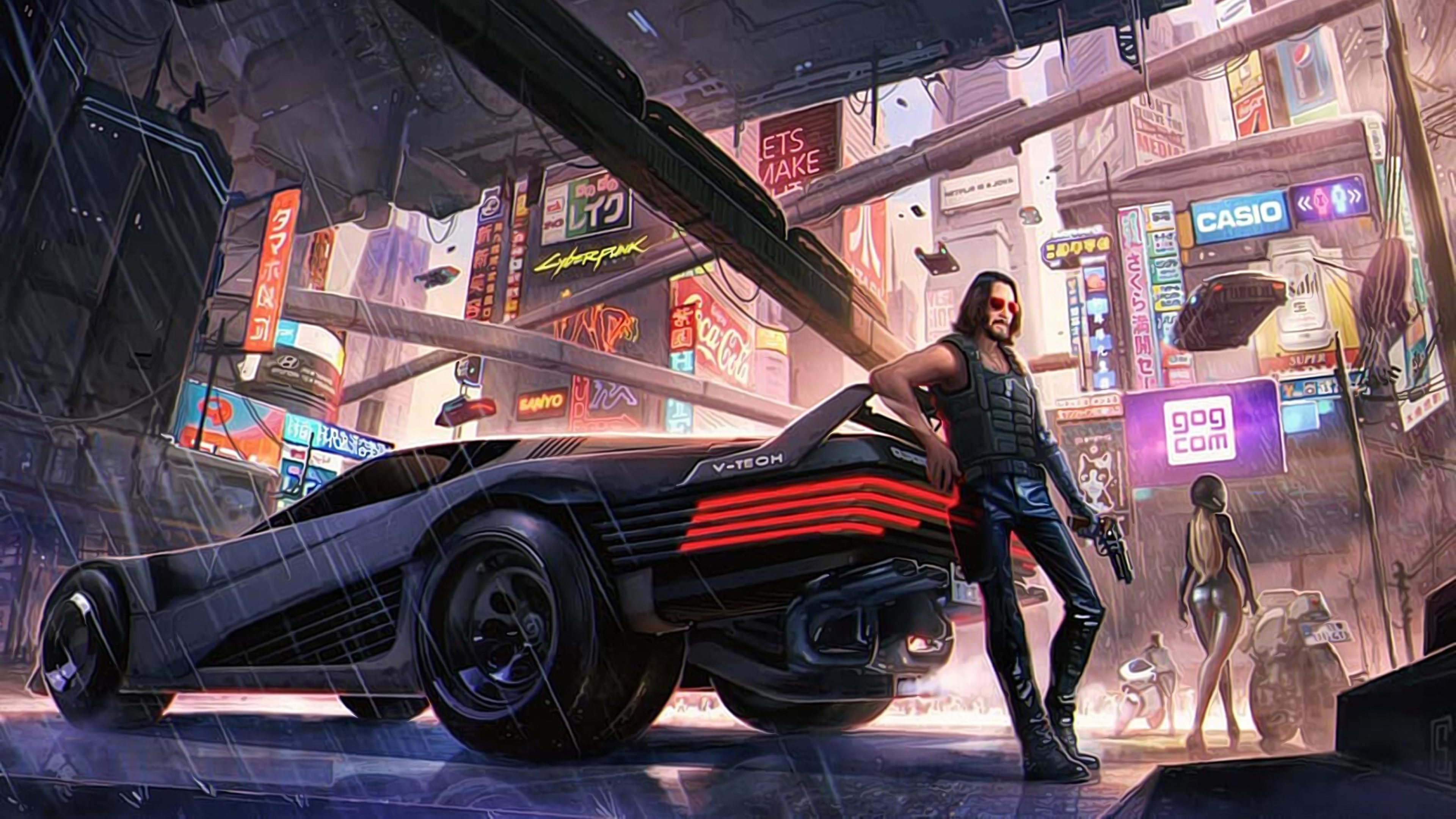 3840x2160 Keanu Reeves Cyberpunk 2077 Art 4K Wallpaper, HD ...