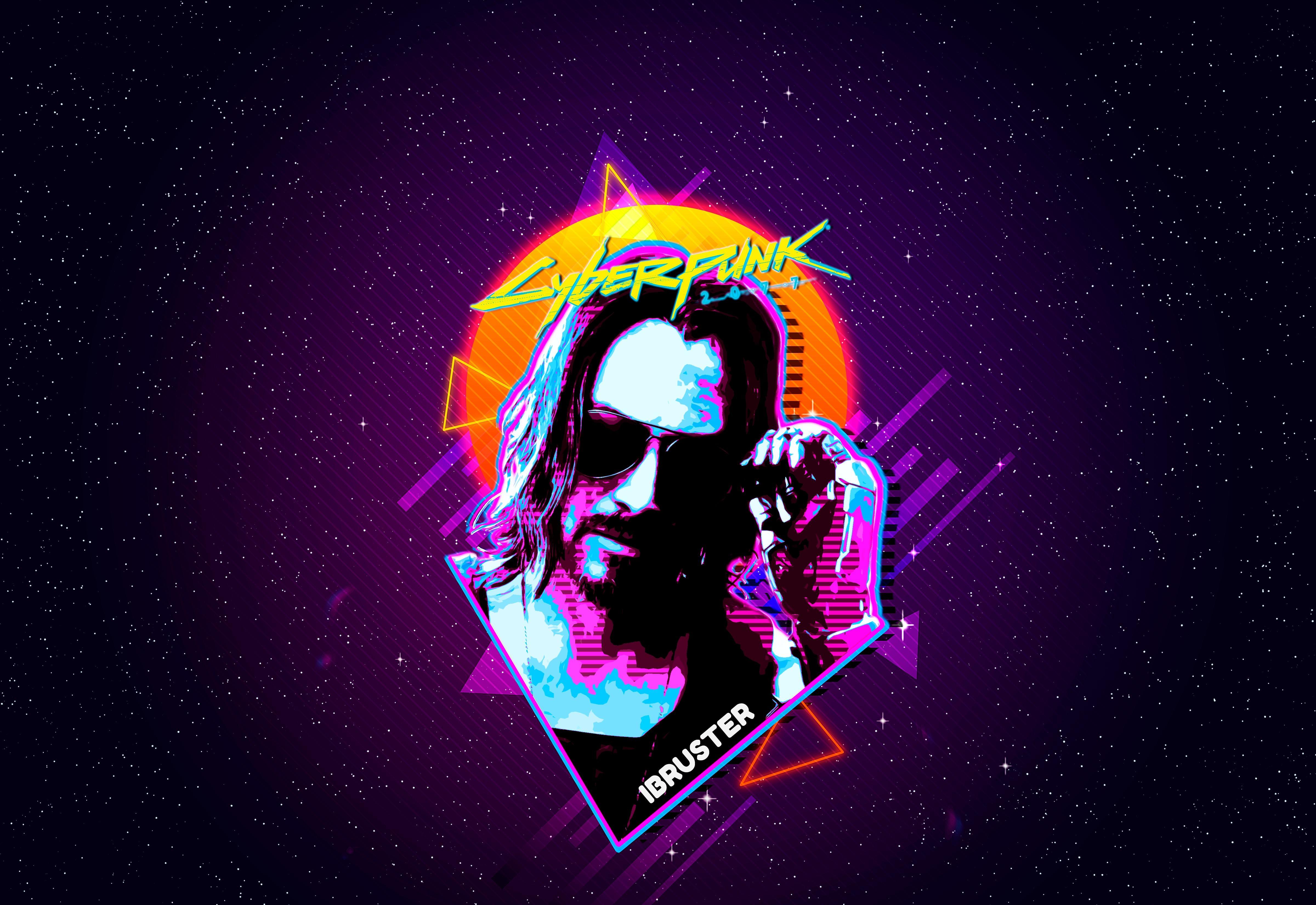 Keanu Reeves Cyberpunk 2077 Retro Art Wallpaper, HD Artist ...